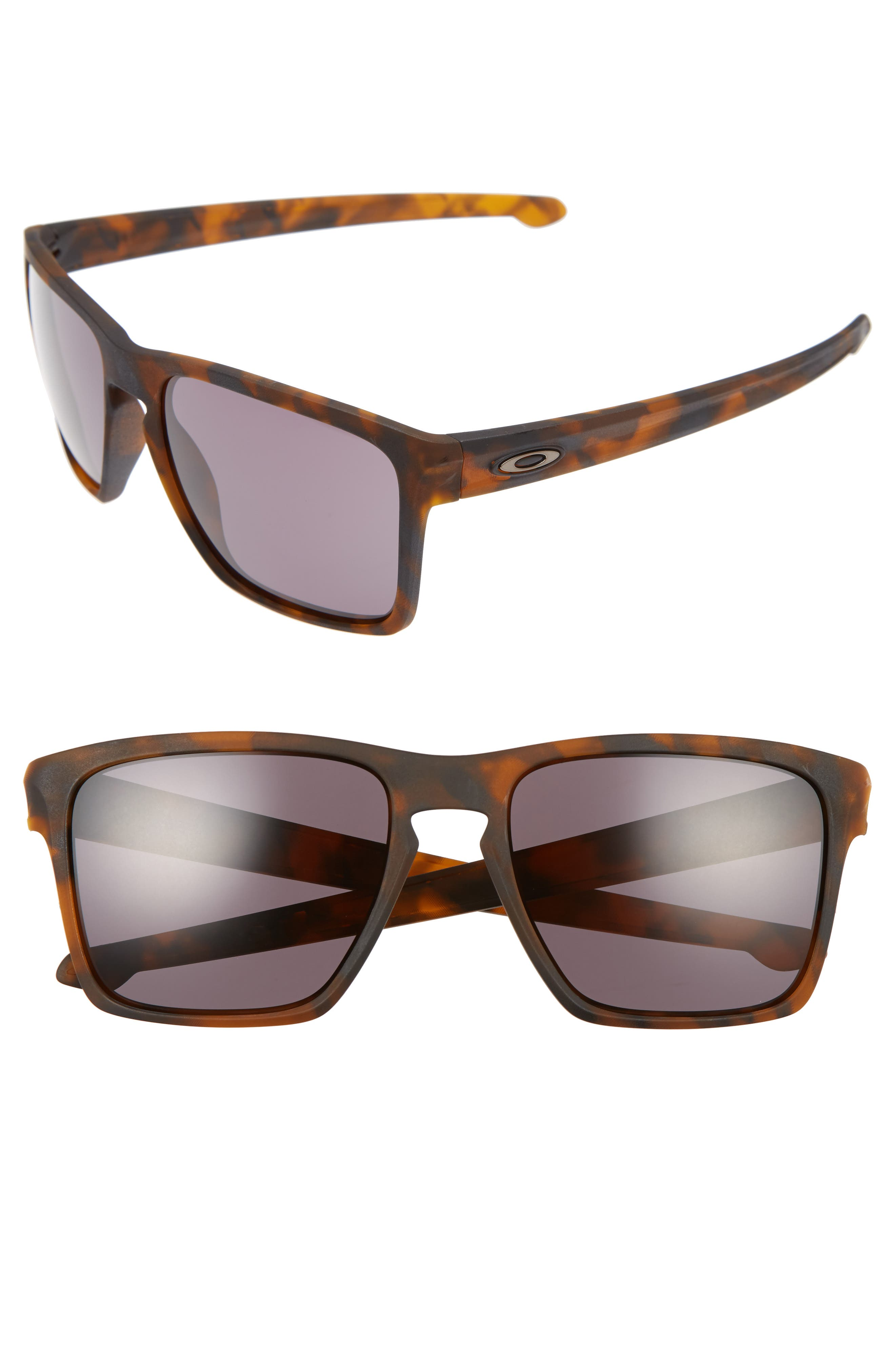 OAKLEY,                             Silver XL 57mm Sunglasses,                             Main thumbnail 1, color,                             BROWN