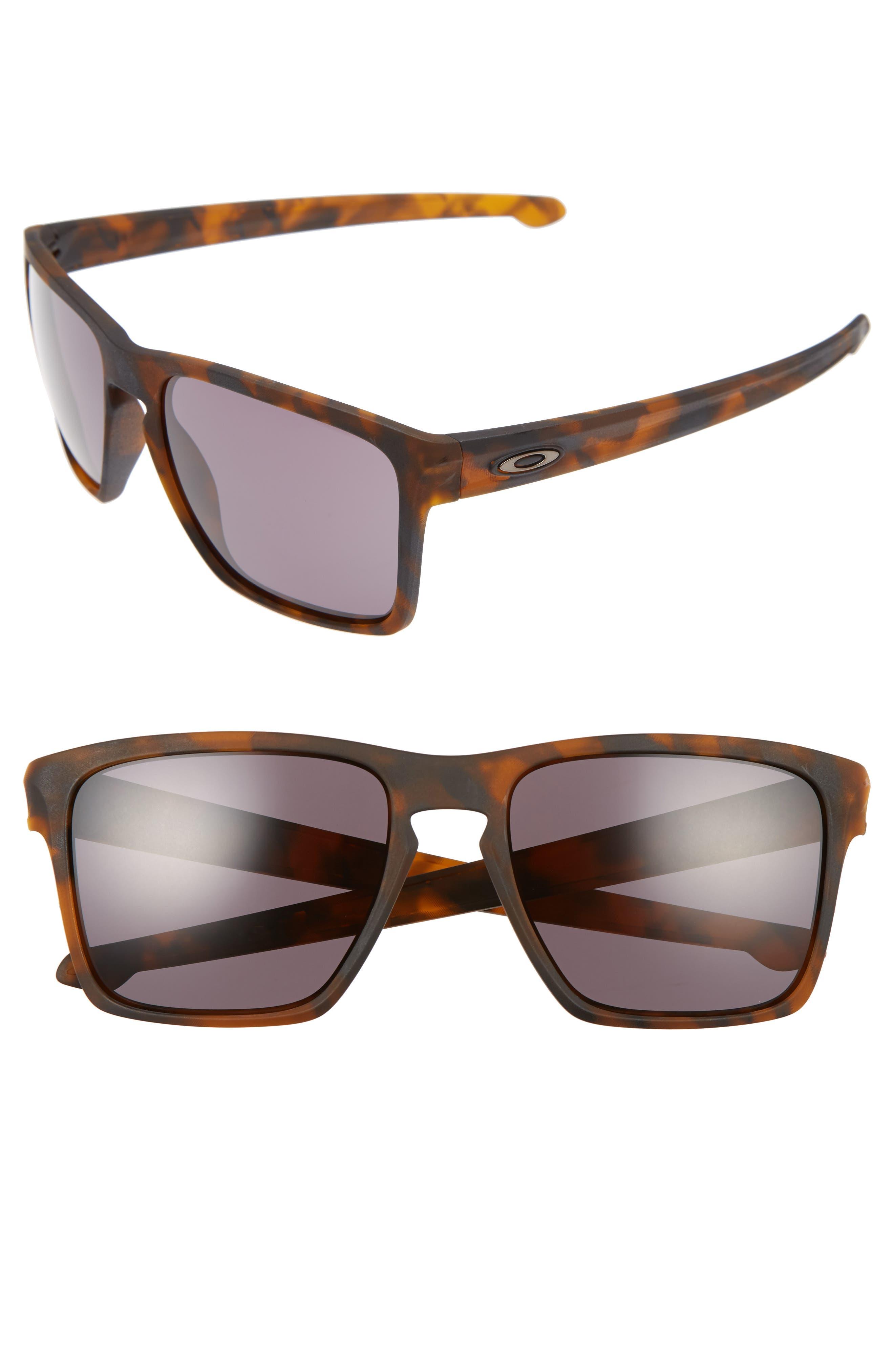 Silver XL 57mm Sunglasses,                         Main,                         color, BROWN