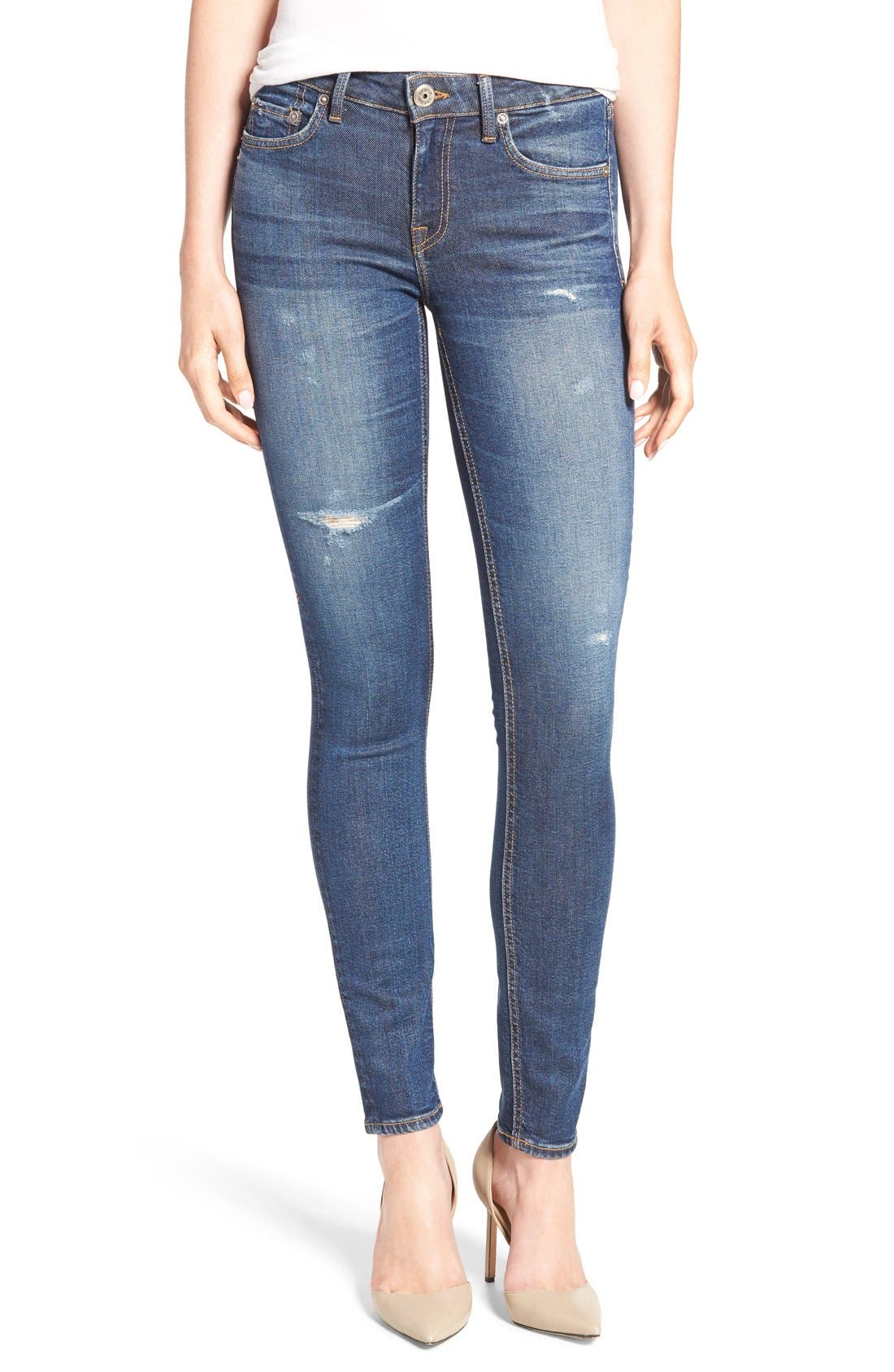 STROM 'Tio' Ankle Skinny Jeans, Main, color, 420
