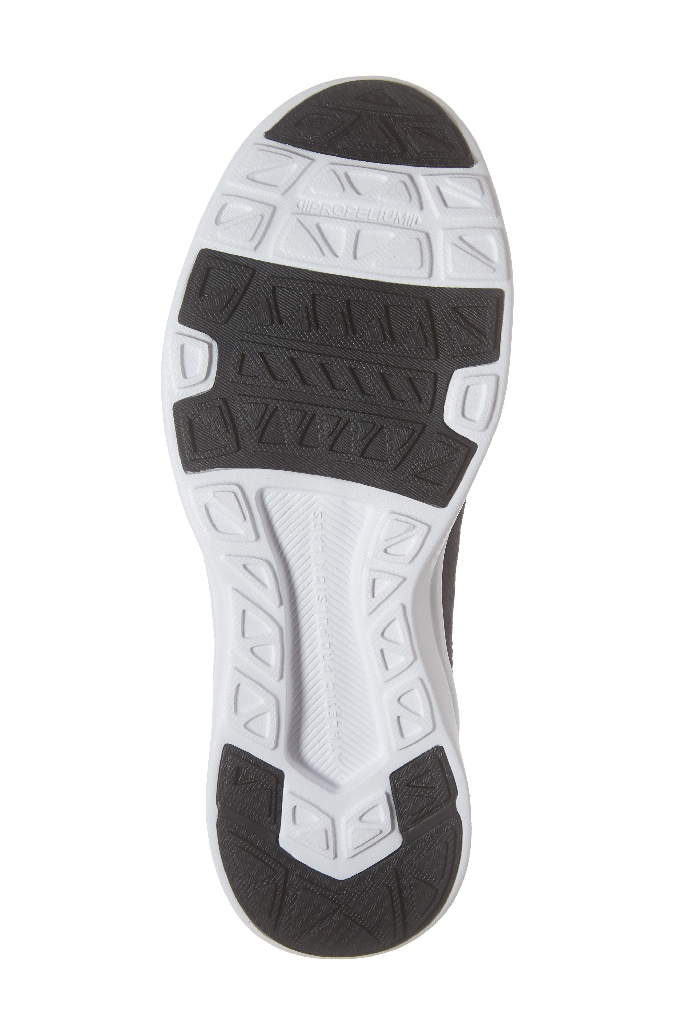 Techloom Breeze Knit Running Shoe,                             Alternate thumbnail 6, color,                             BLACK/ BLACK/ WHITE