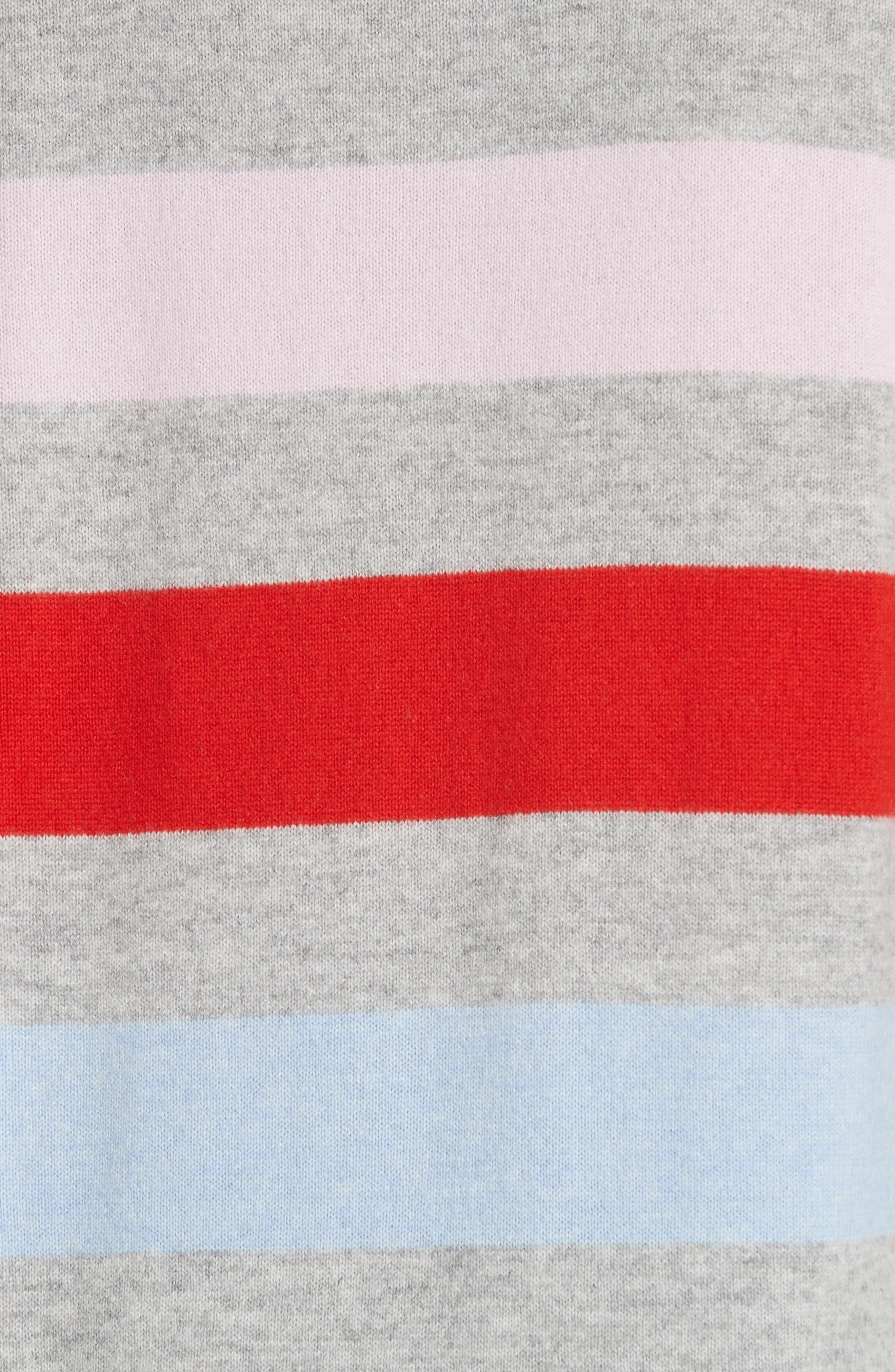 AAA Candy Stripe Cashmere Sweater,                             Alternate thumbnail 5, color,                             020