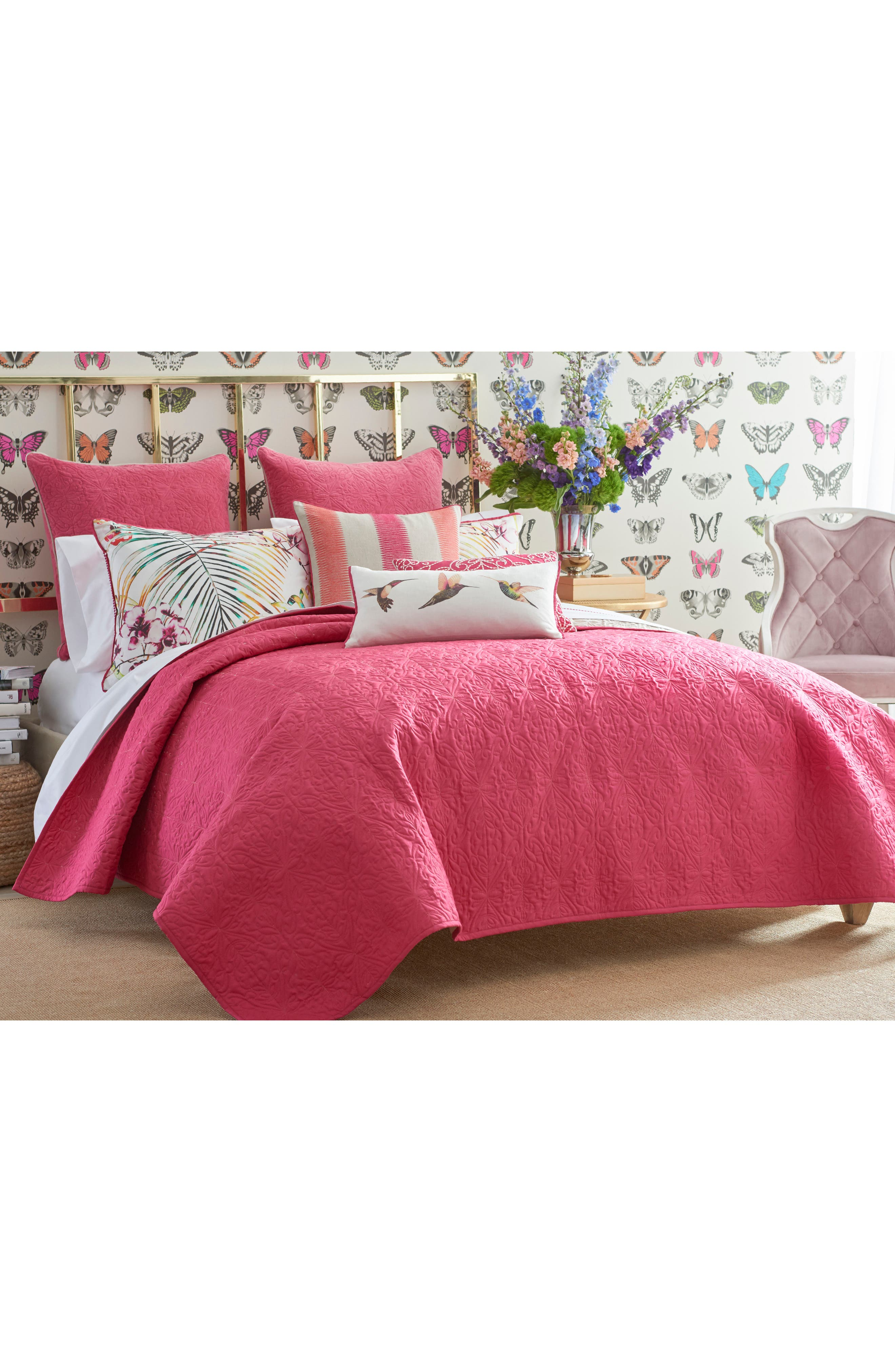 Paradise Coverlet,                             Main thumbnail 1, color,                             PINK