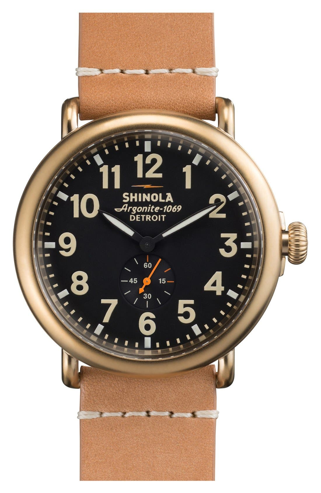 'The Runwell' Leather Strap Watch, 47mm,                             Main thumbnail 15, color,