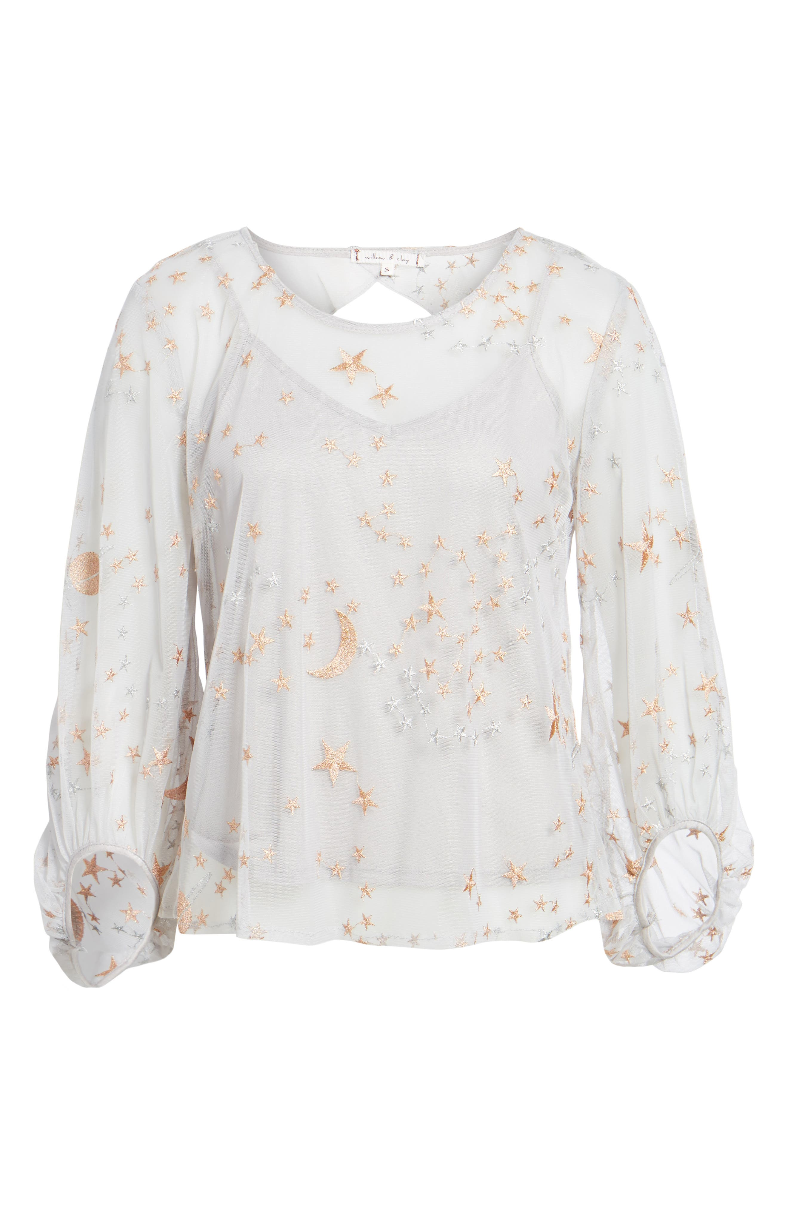 Embroidered Top,                             Alternate thumbnail 6, color,                             040