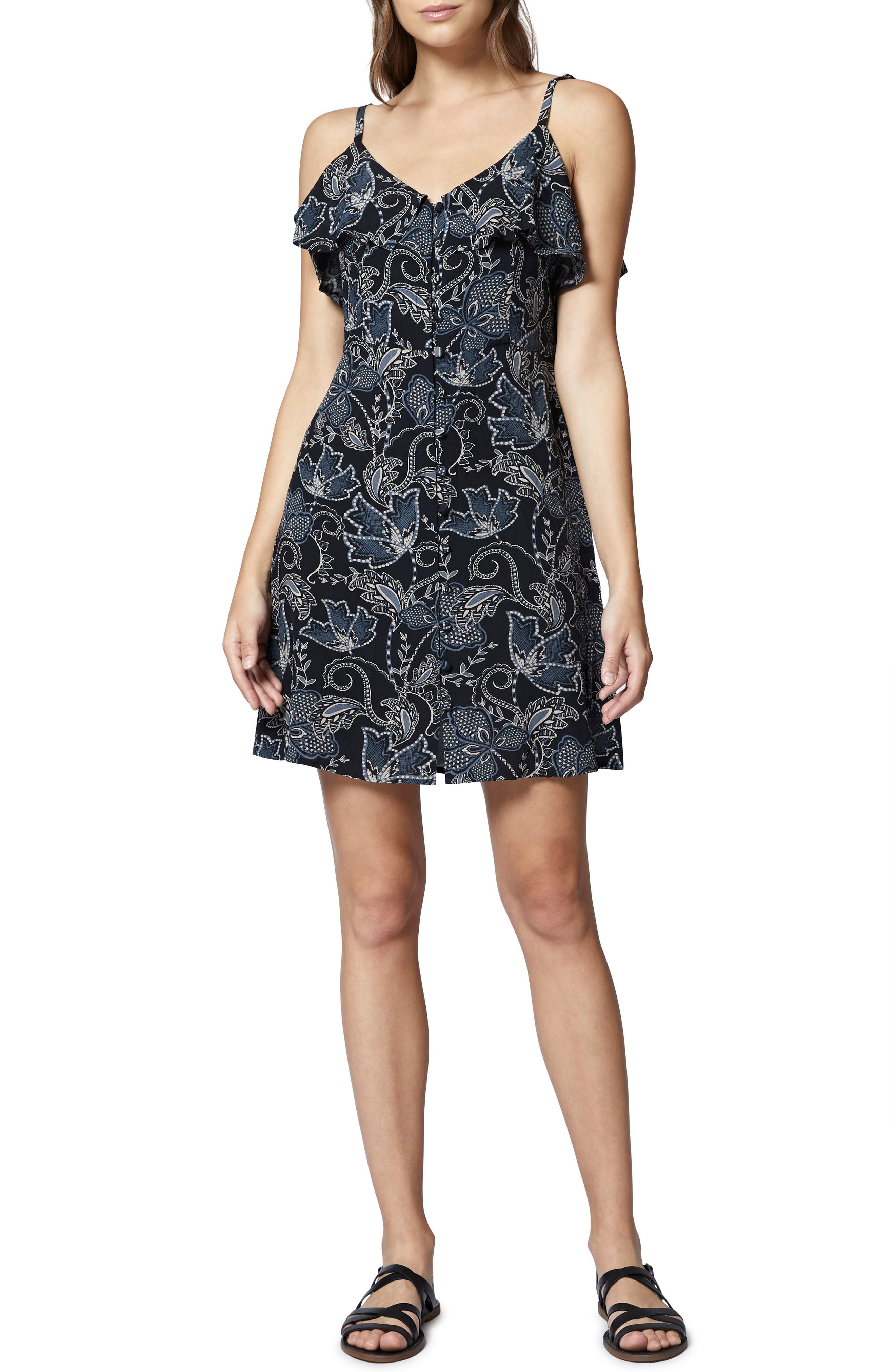 Rafaella Floral Print Dress,                             Main thumbnail 1, color,