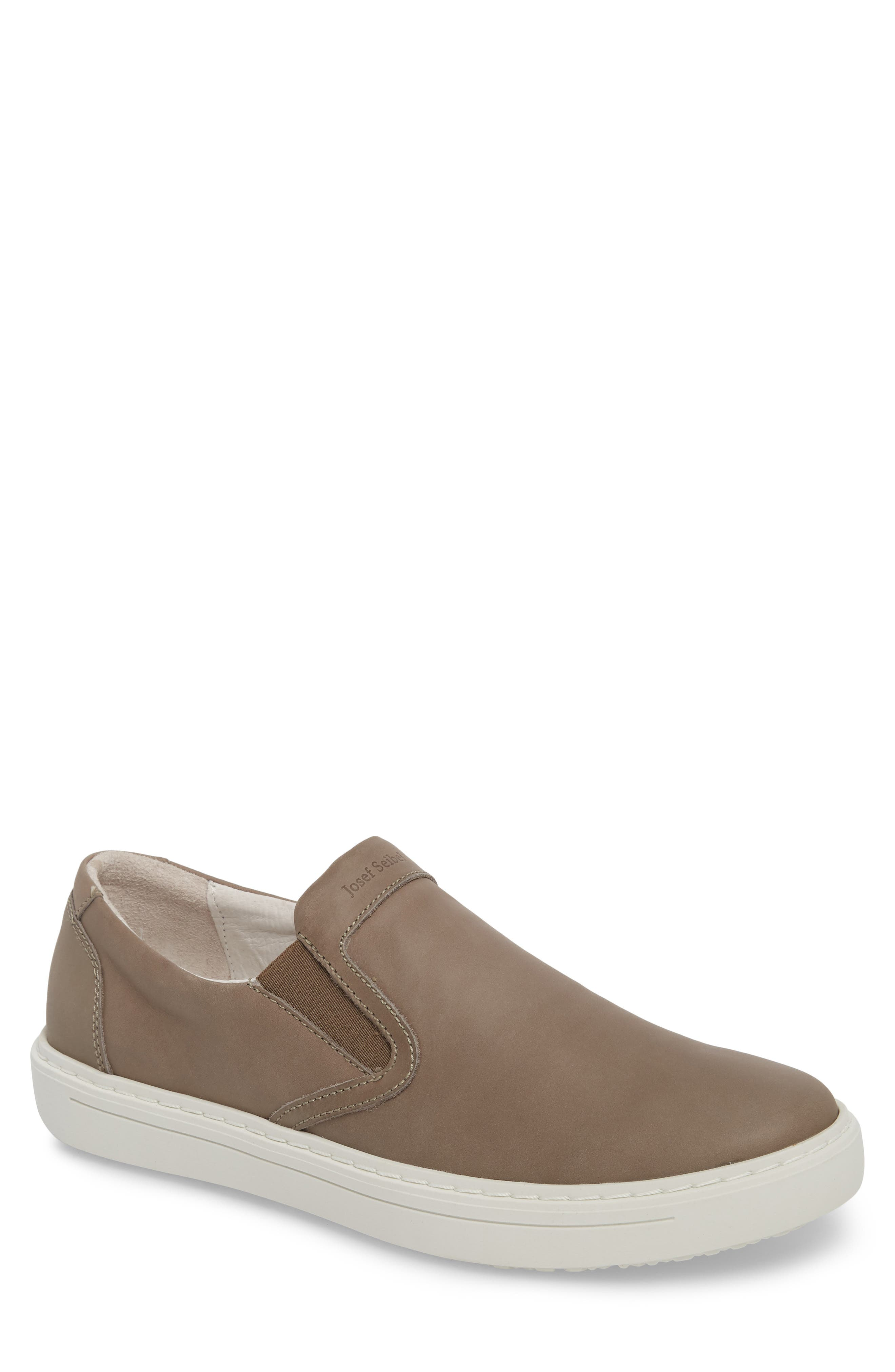 Quentin 15 Slip-On Sneaker,                             Main thumbnail 1, color,                             GRAY LEATHER