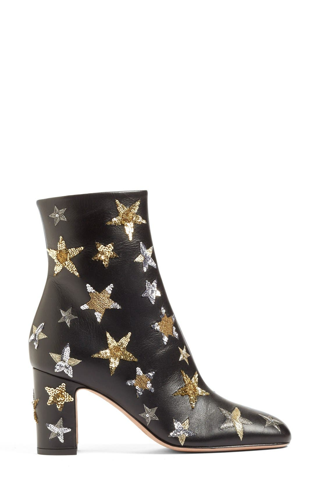 VALENTINO,                             'Star Studded' Bootie,                             Alternate thumbnail 2, color,                             002