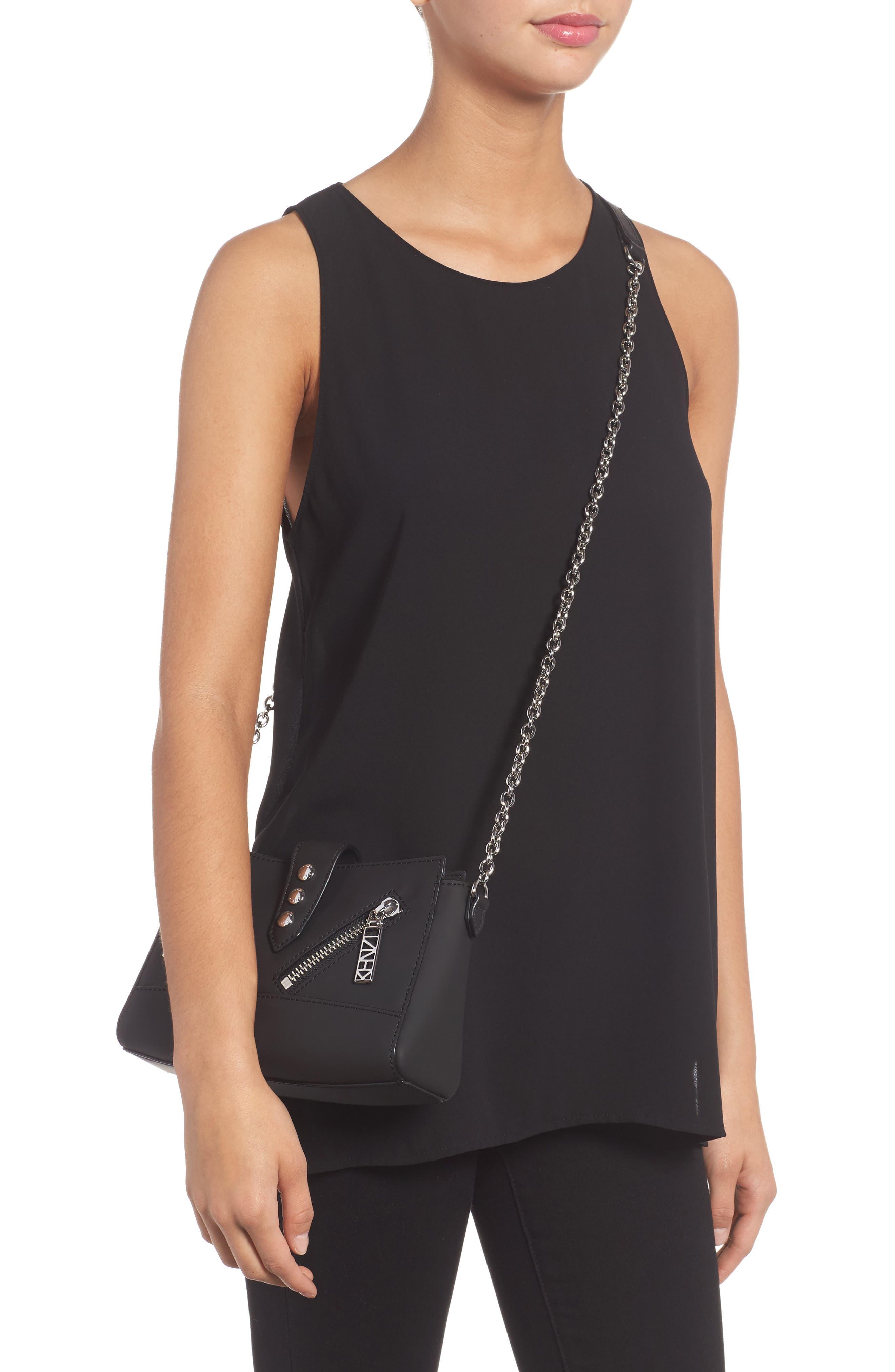 Mini Kalifornia Grommato Leather Shoulder Bag,                             Alternate thumbnail 2, color,                             001