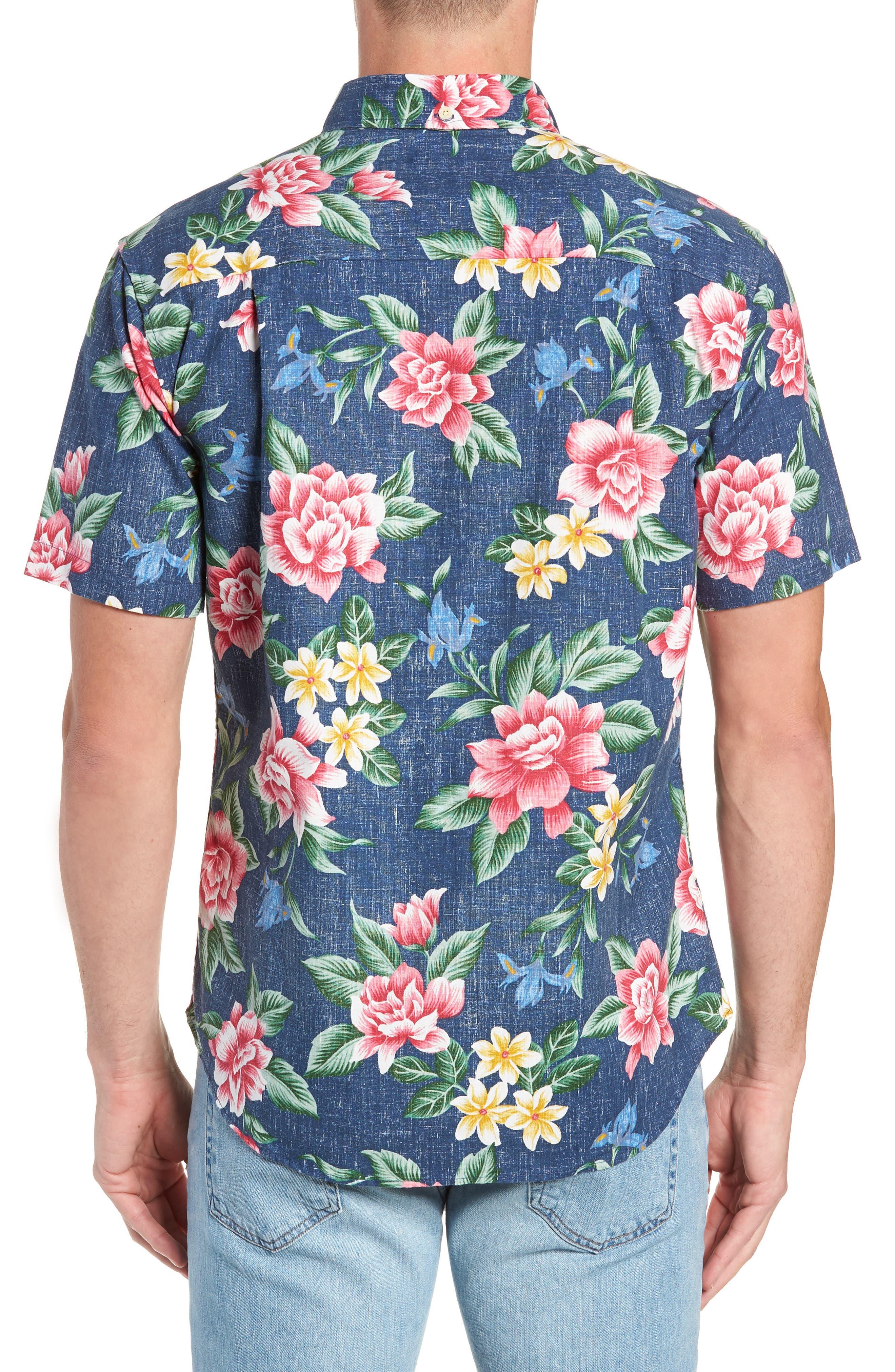 Hou Pua Nui Regular Fit Sport Shirt,                             Alternate thumbnail 2, color,                             INK