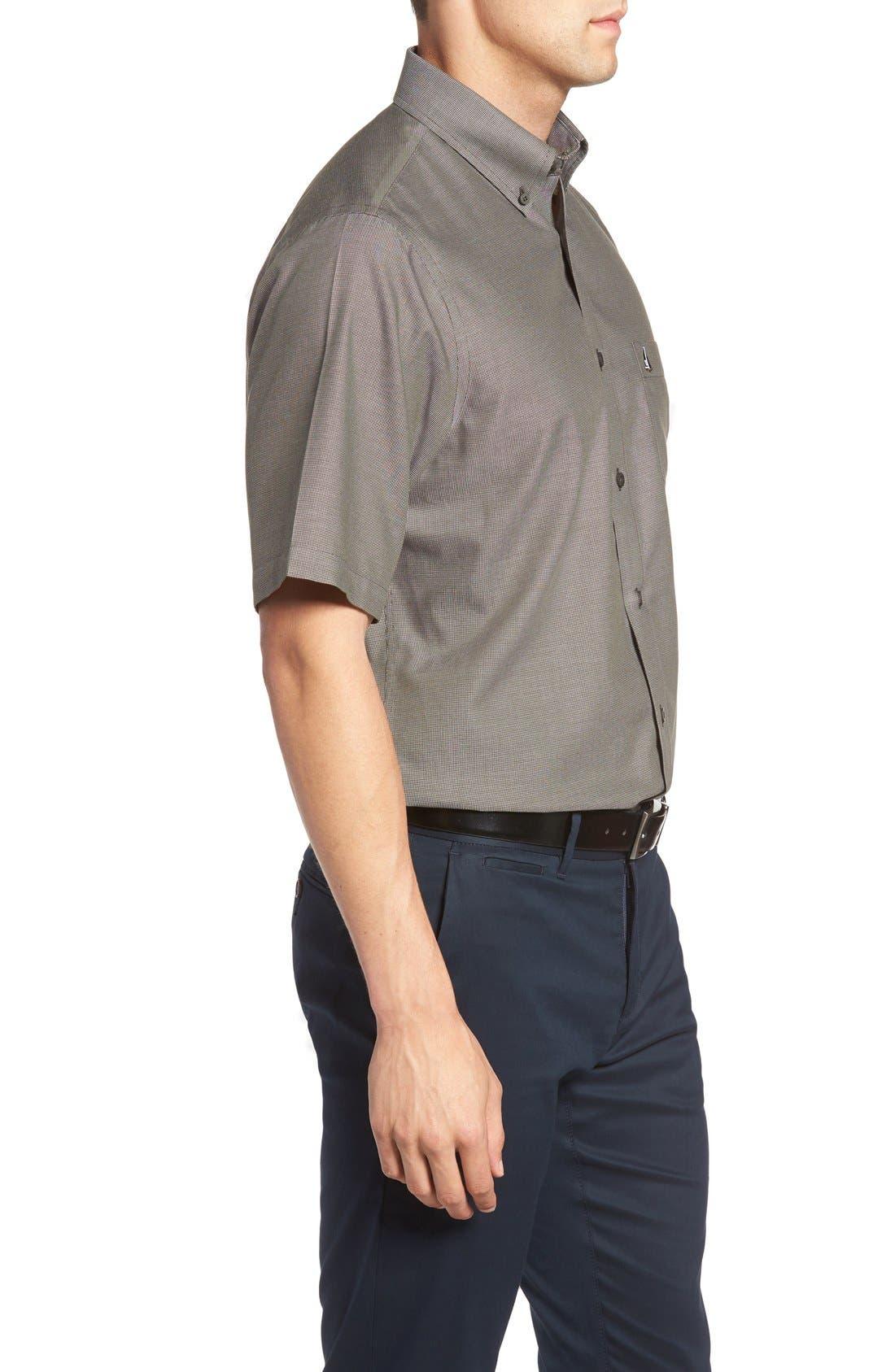 'Classic' Smartcare<sup>™</sup> Regular Fit Short Sleeve Cotton Sport Shirt,                             Alternate thumbnail 48, color,