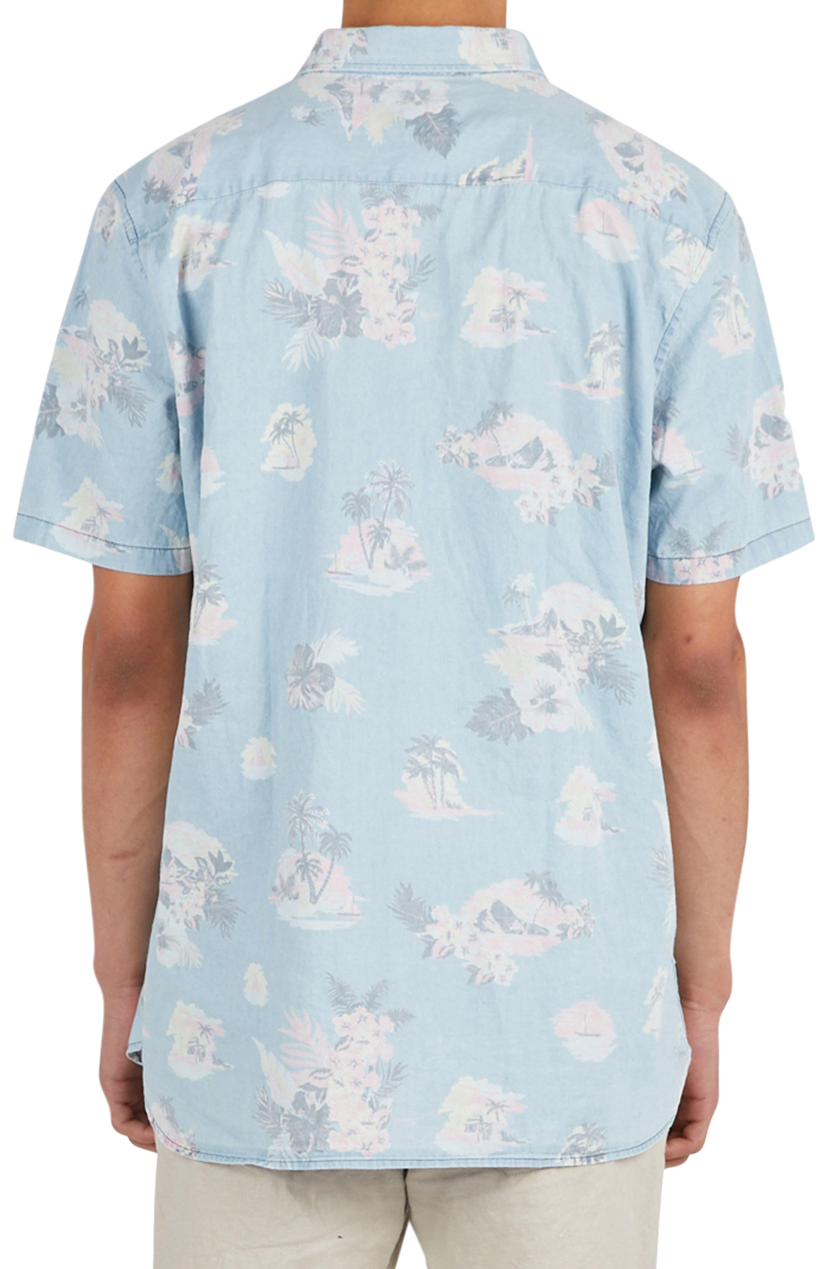 Tropical Print Woven Shirt,                             Alternate thumbnail 2, color,                             453