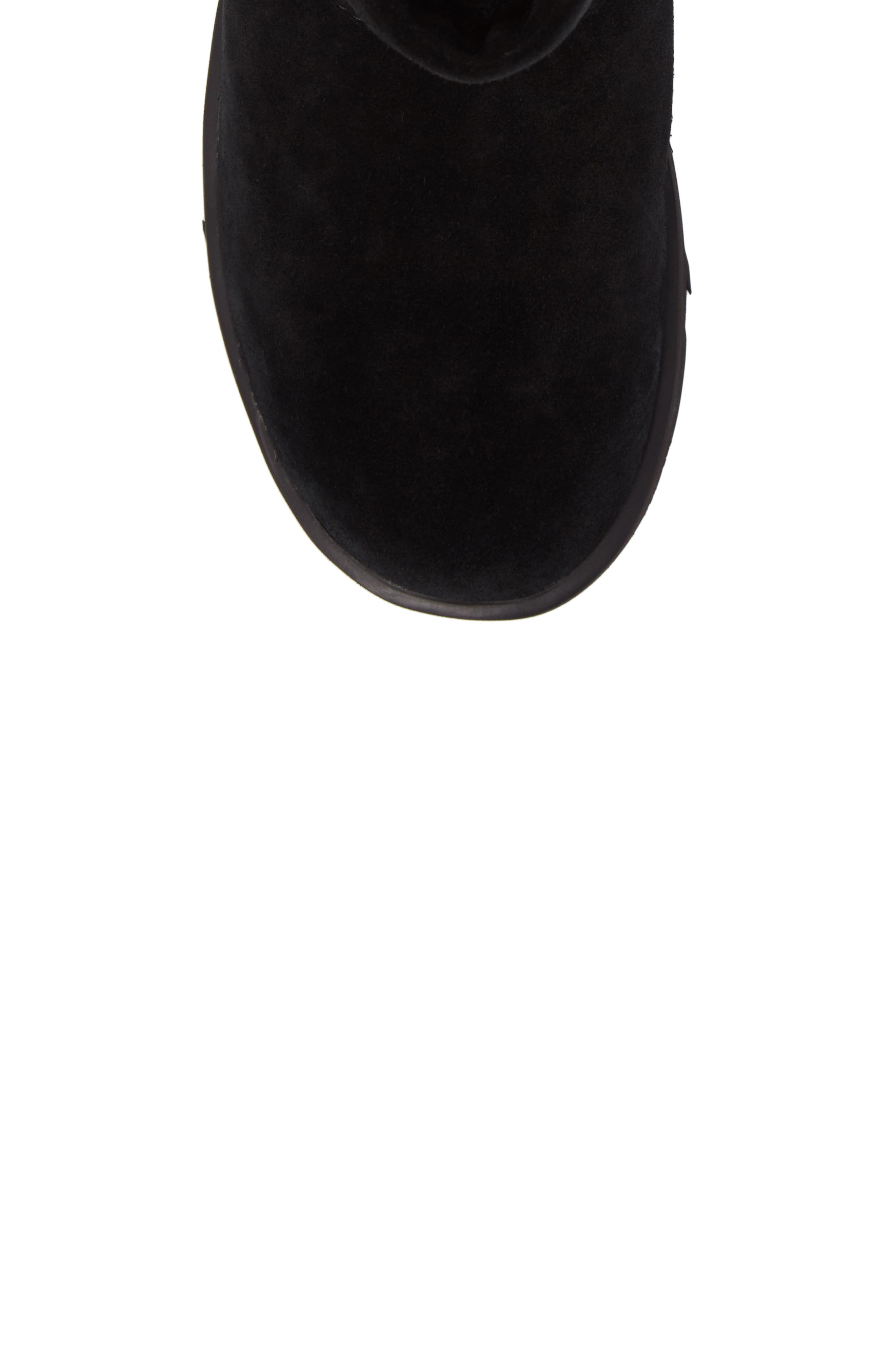 UGG<SUP>®</SUP>,                             Classic Mini Waterproof Boot,                             Alternate thumbnail 5, color,                             BLACK SUEDE