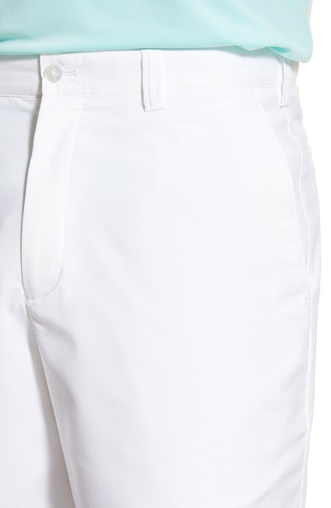 Bainbridge DryTec Flat Front Shorts,                             Alternate thumbnail 7, color,                             WHITE