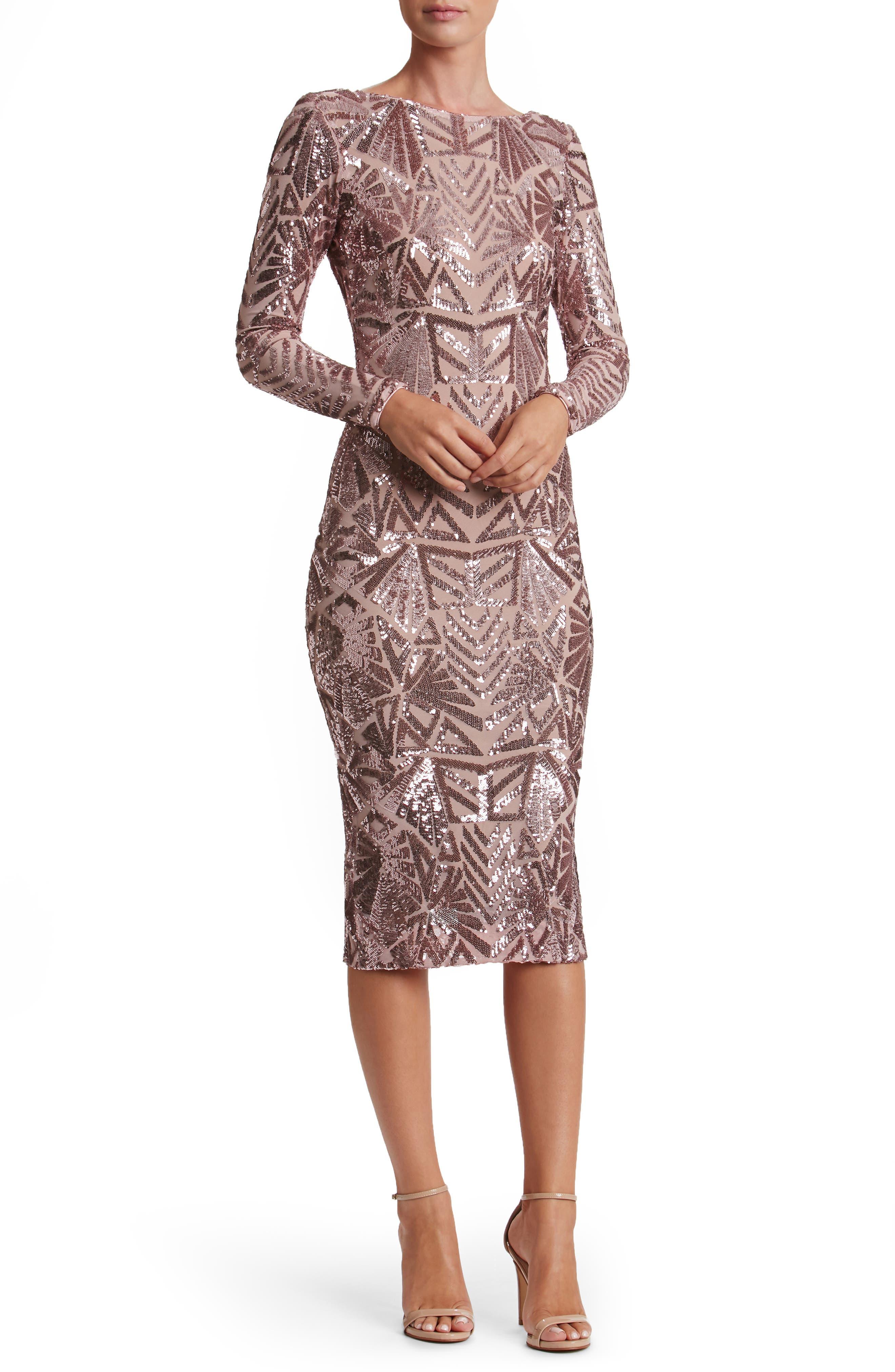 Emery Midi Dress,                             Main thumbnail 4, color,