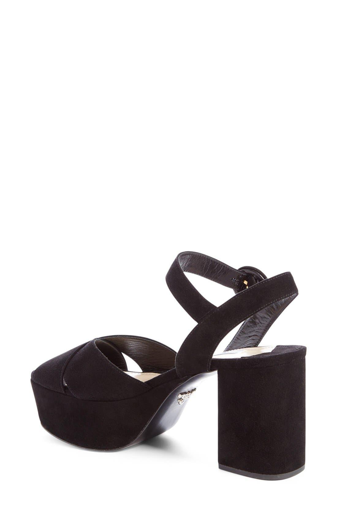 Strappy Platform Sandal,                             Main thumbnail 1, color,                             001