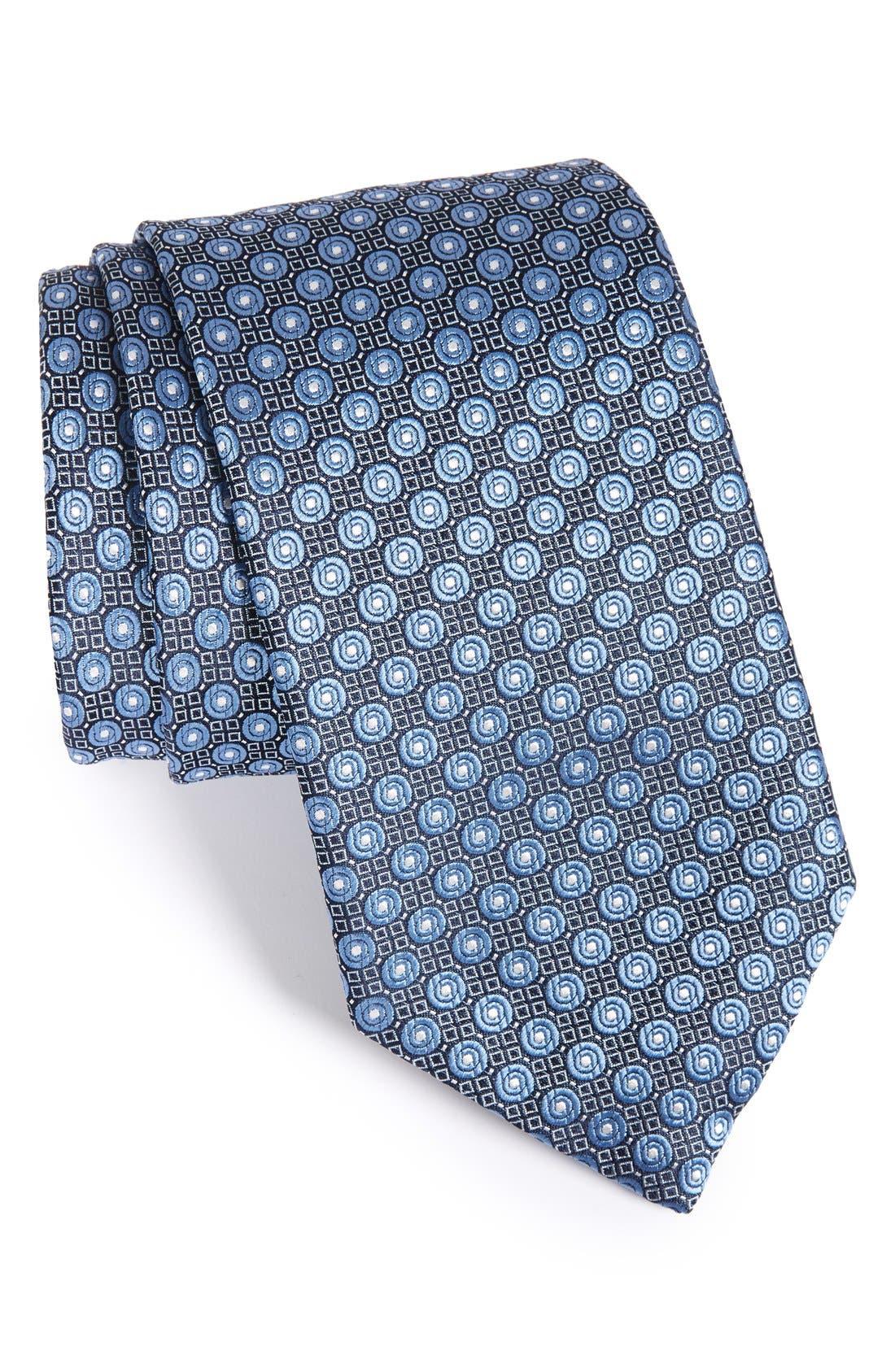 Dot Silk Tie,                             Main thumbnail 1, color,                             429