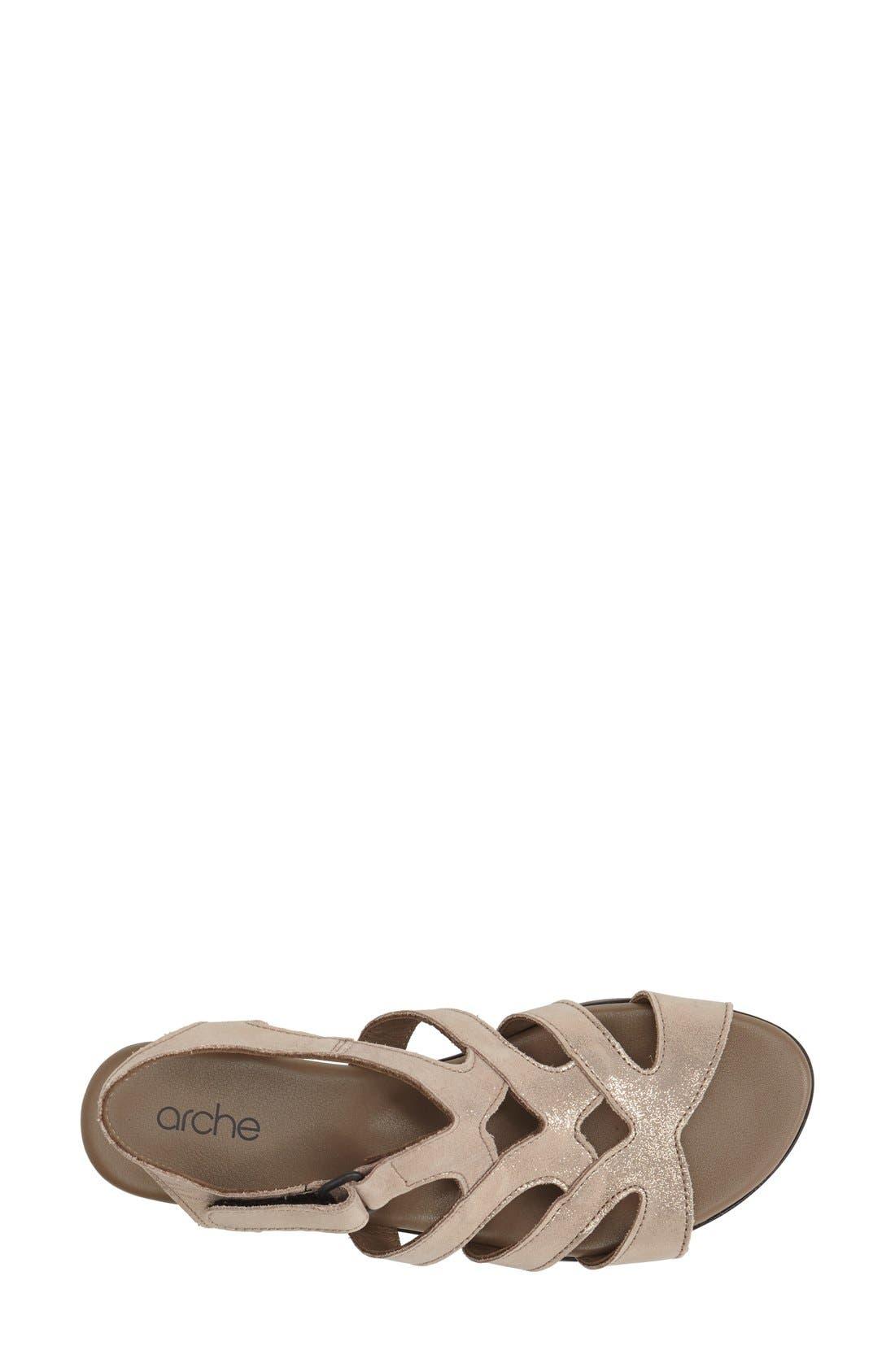 'Obela' Water Resistant Leather Sandal,                             Alternate thumbnail 15, color,