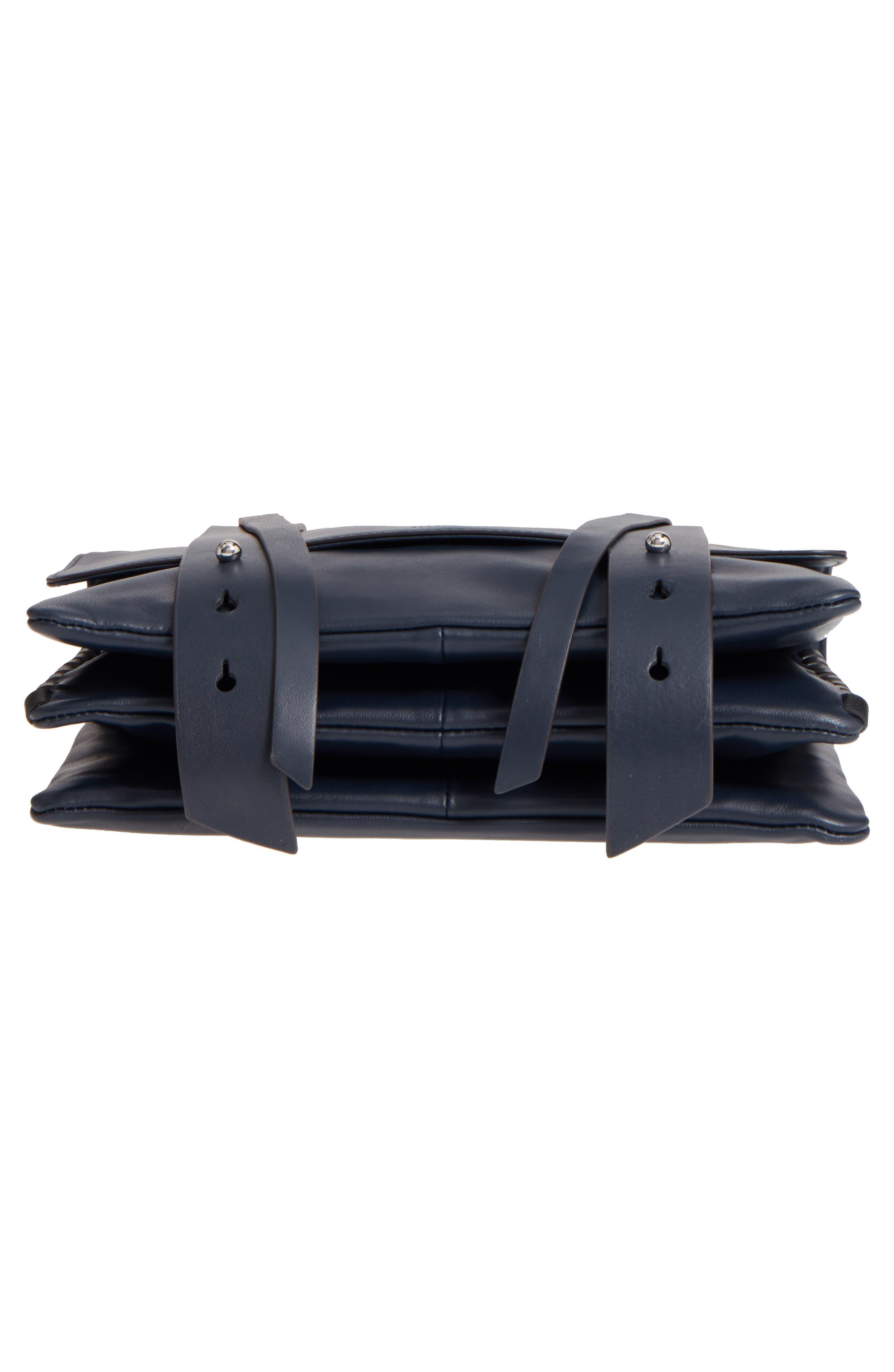 Fin Lambskin Leather Messenger Bag,                             Alternate thumbnail 12, color,