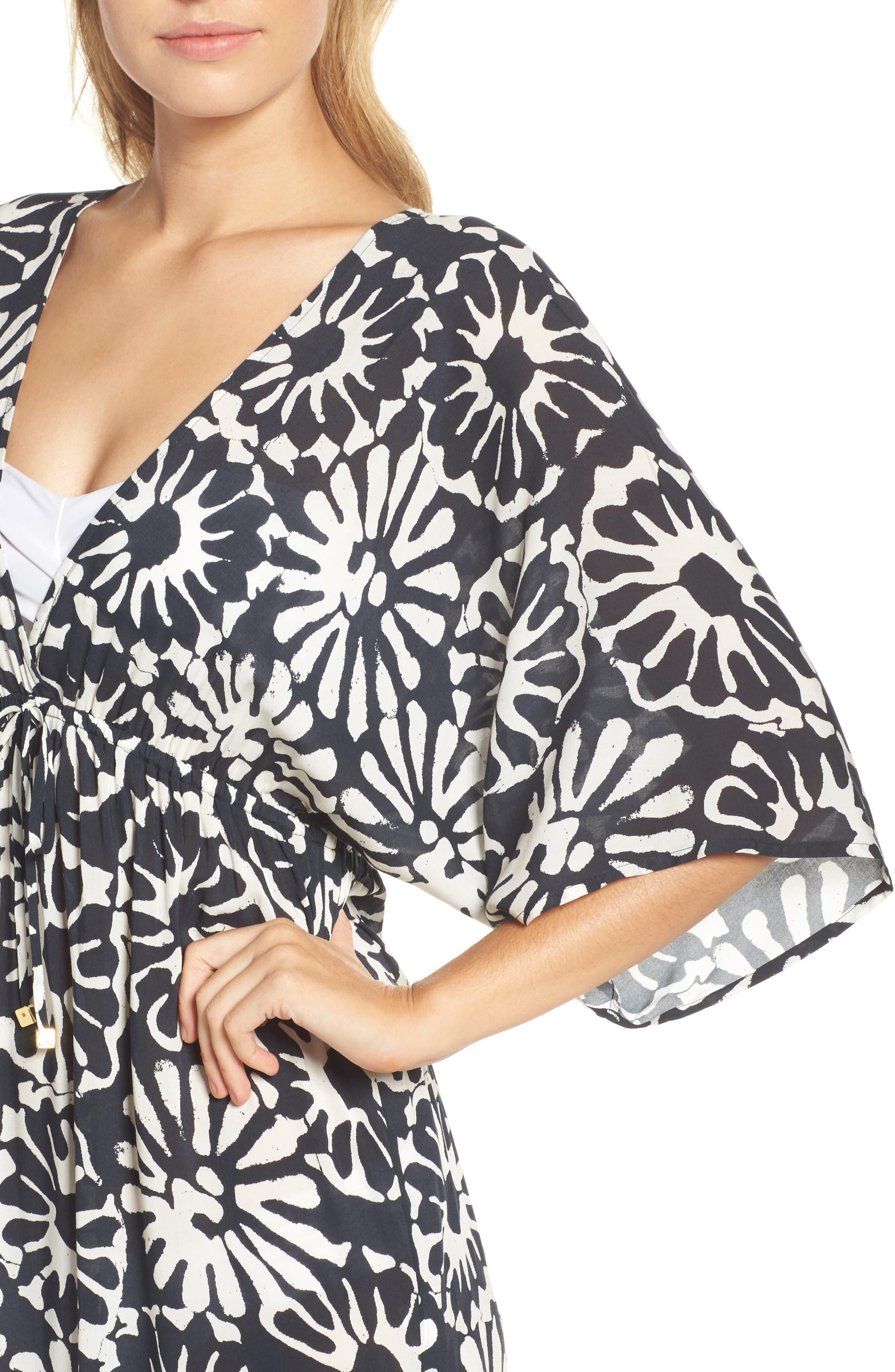 Pomelo Floral Cover-Up Dress,                             Alternate thumbnail 4, color,