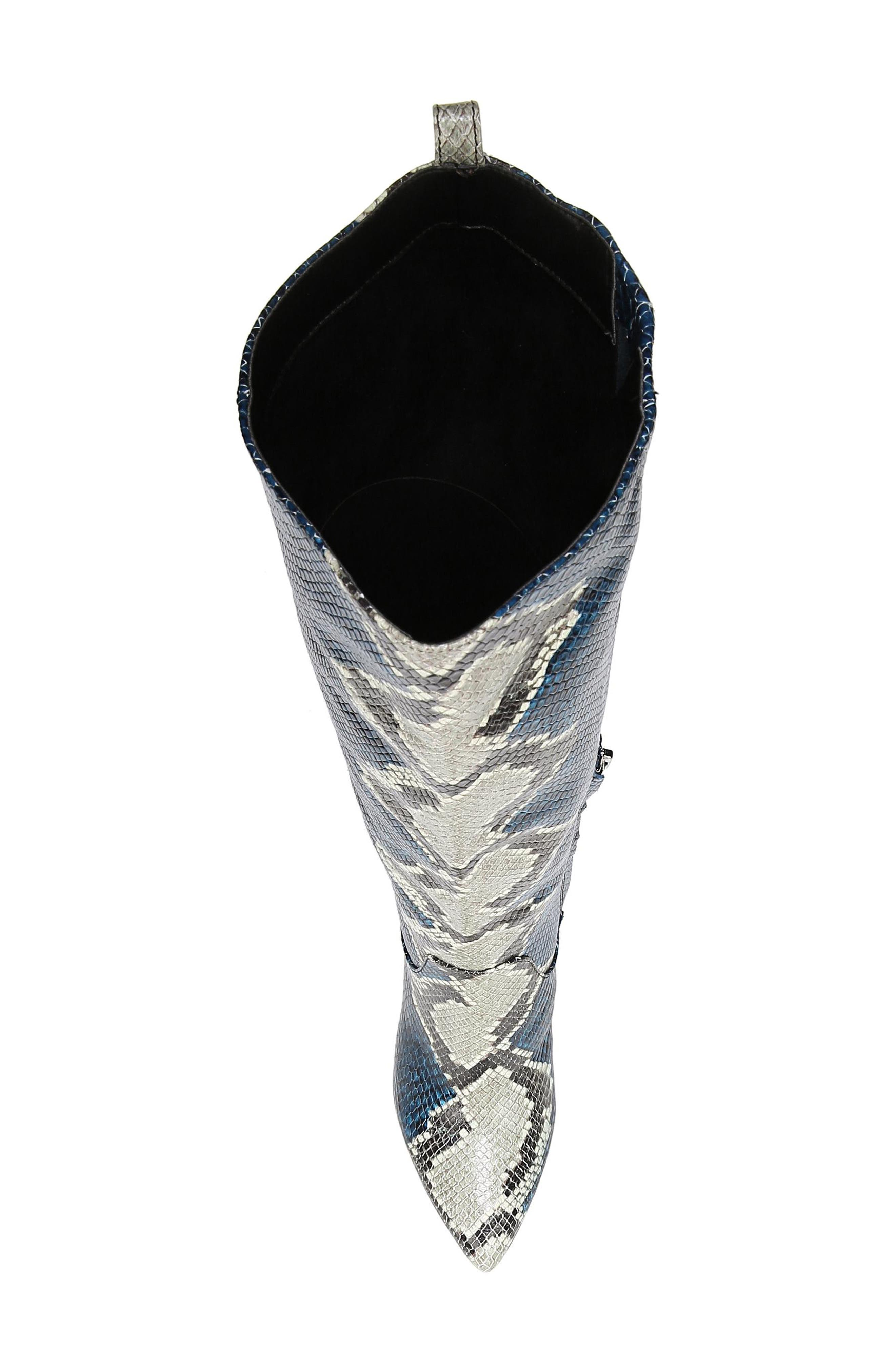 Hai Knee High Boot,                             Alternate thumbnail 5, color,                             PEACOCK EMBOSSED LEATHER