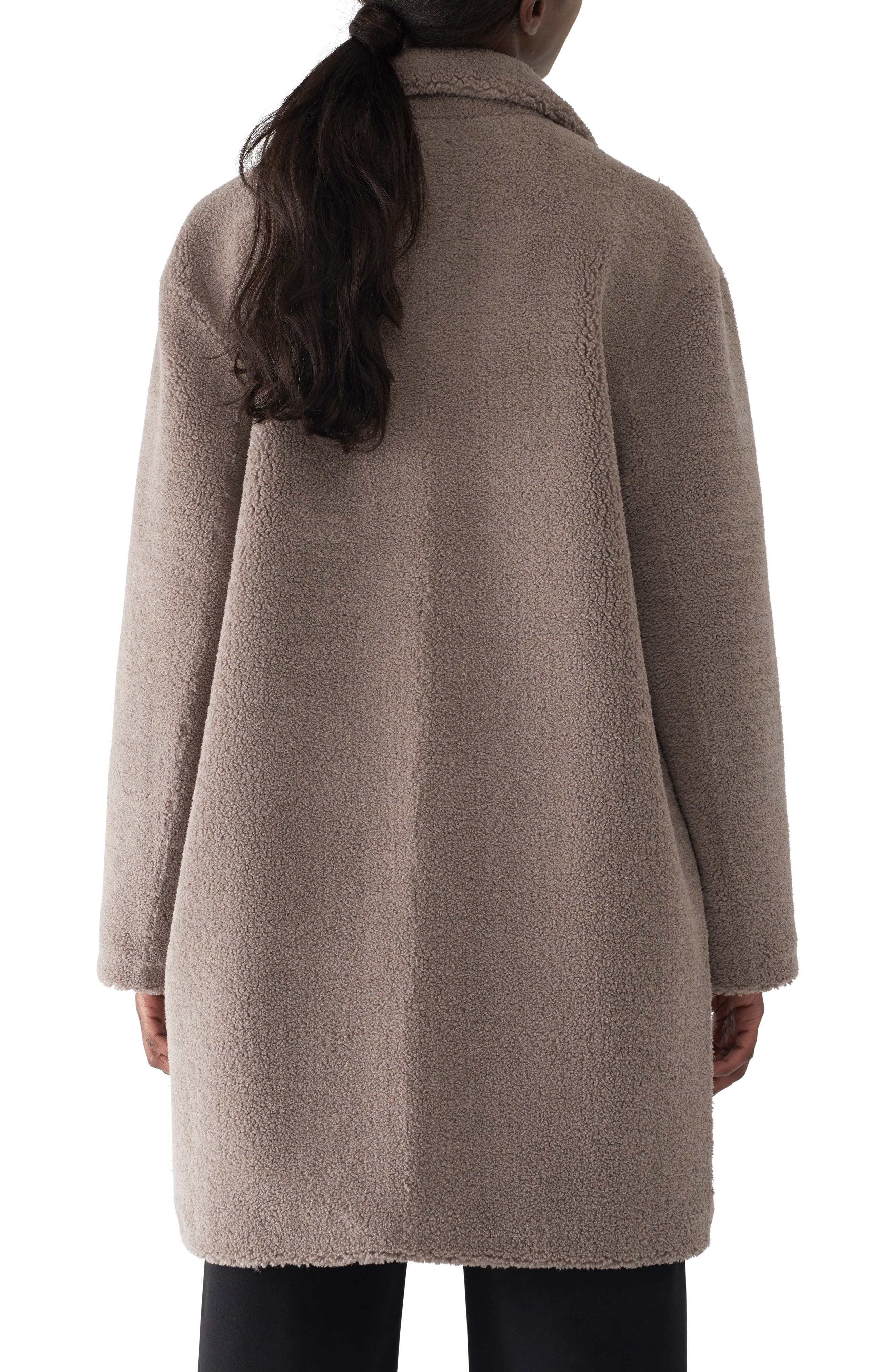 Gita Teddy Coat,                             Alternate thumbnail 2, color,                             TAUPE