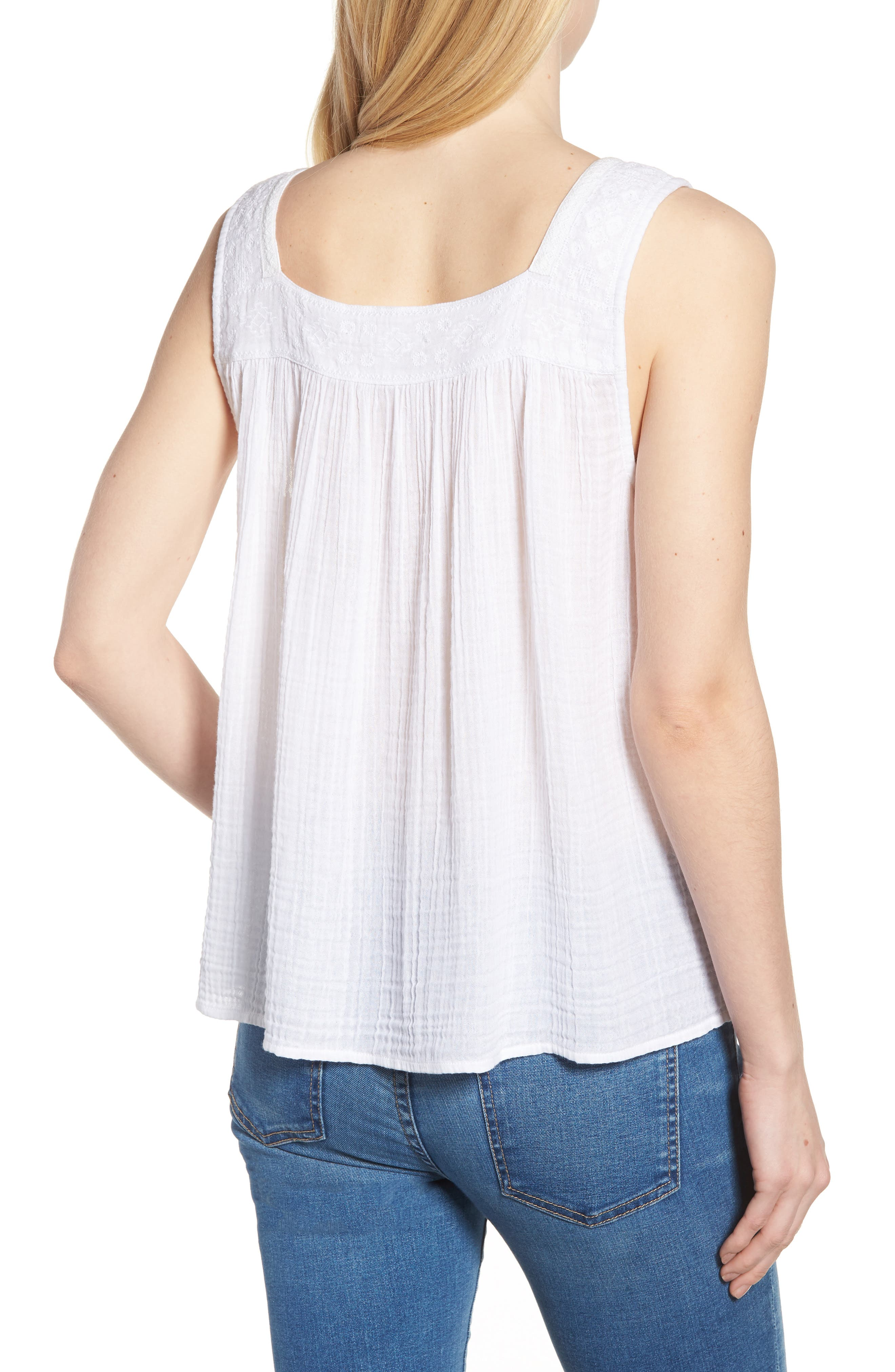 Embroidered Neck Swing Tank,                             Alternate thumbnail 8, color,