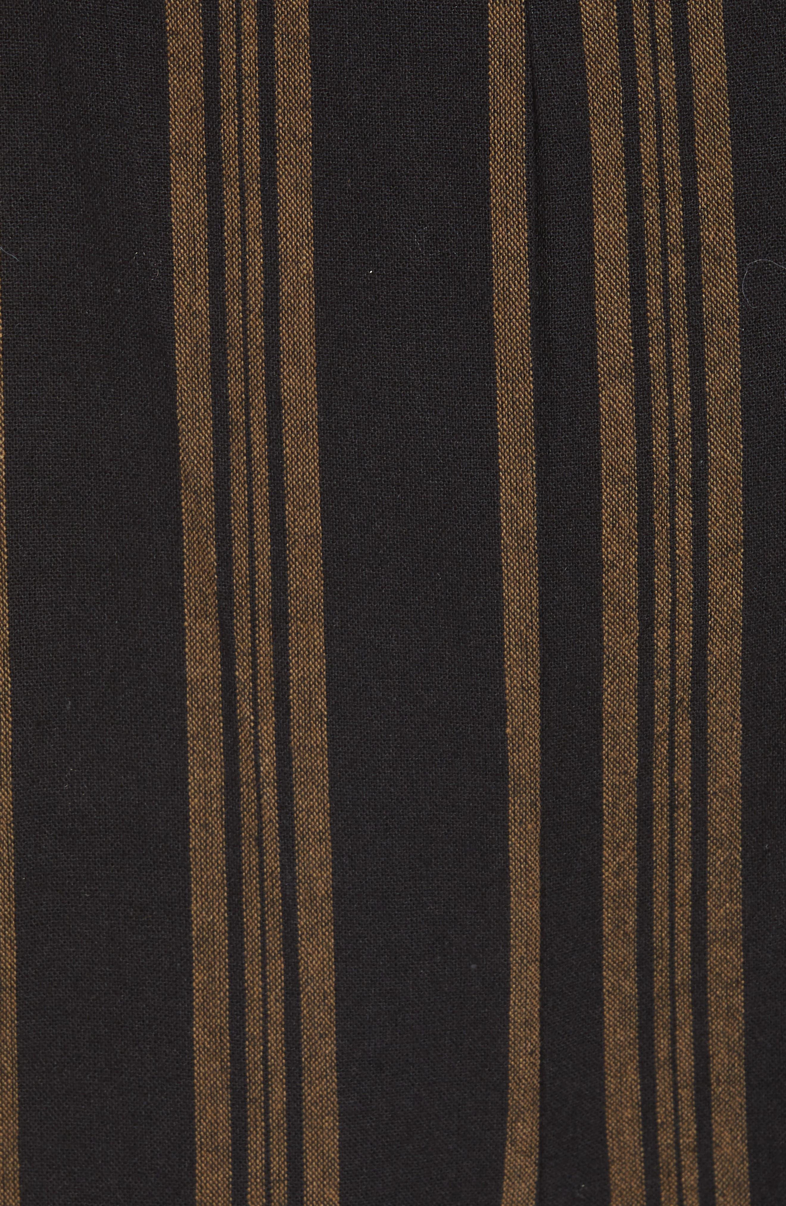 Knot Front Stripe Jumpsuit,                             Alternate thumbnail 6, color,                             001