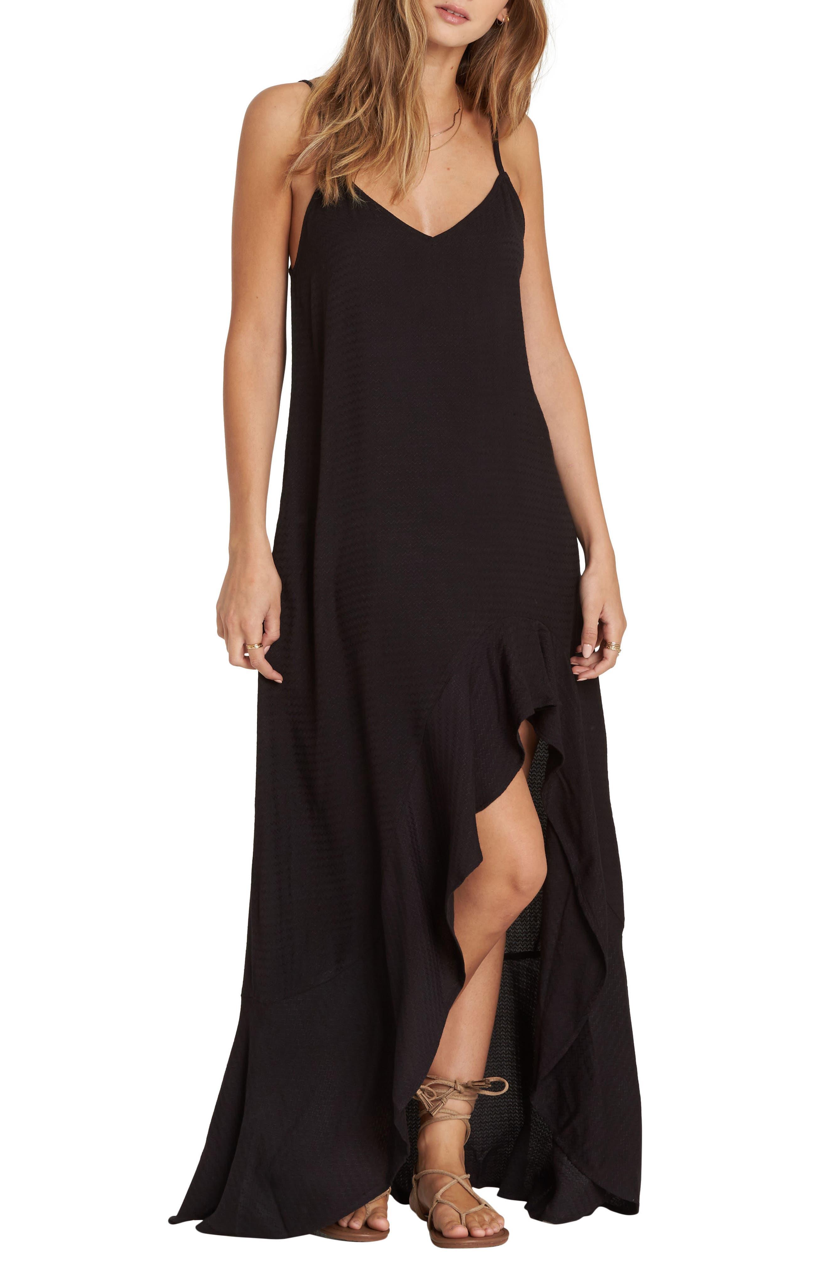 Billabong Kick It Up Maxi Dress, Black