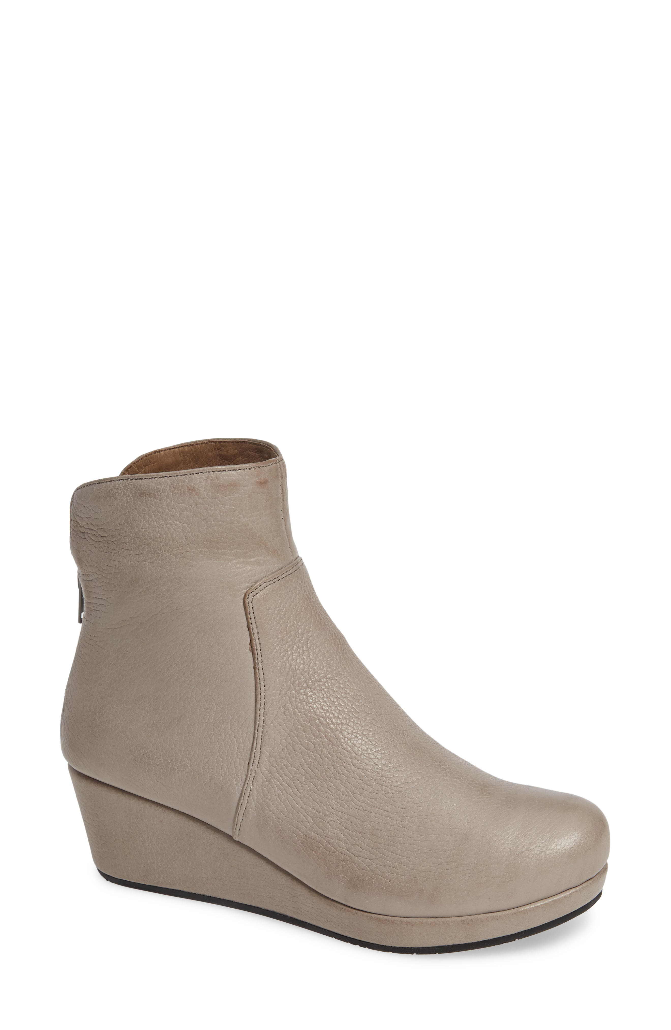 Yarden Wedge Bootie,                         Main,                         color, GREY LEATHER