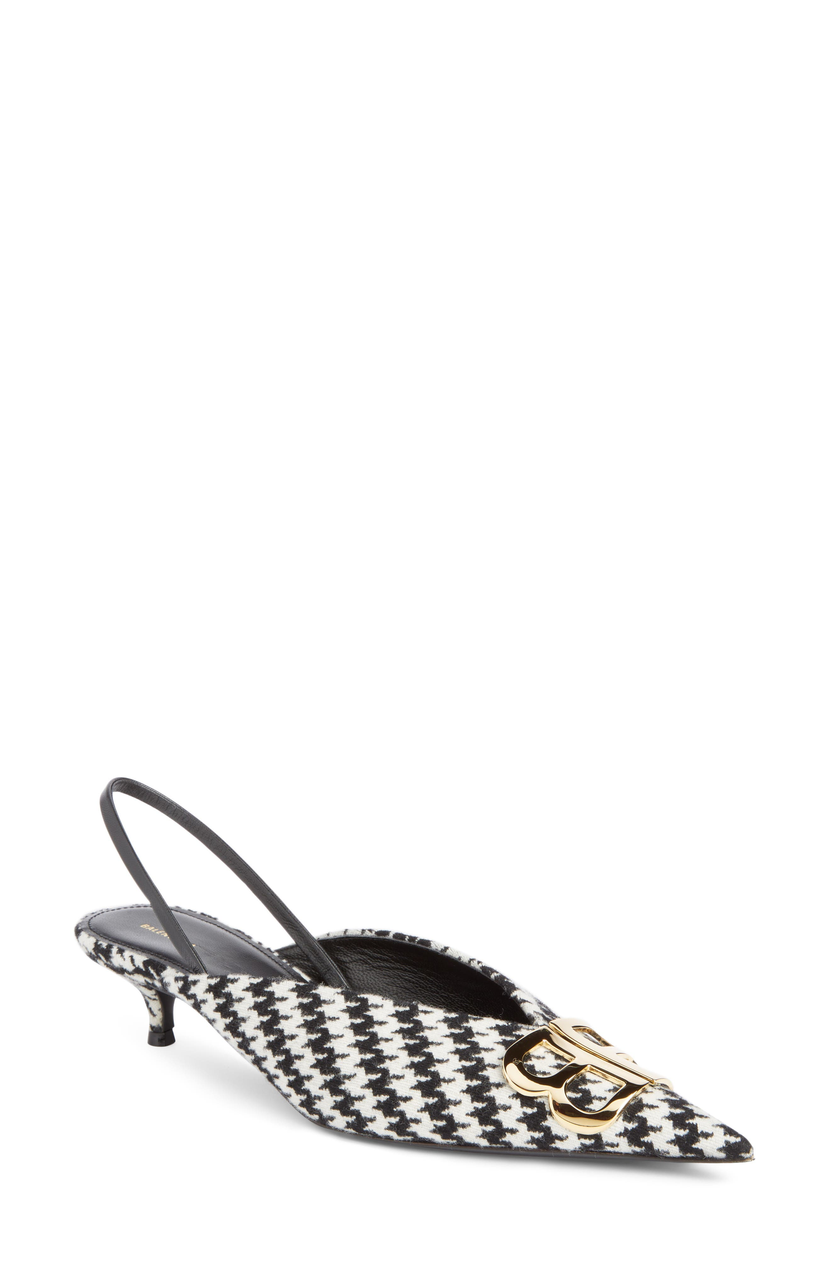 BB Houndstooth Slingback Pump,                         Main,                         color, 121