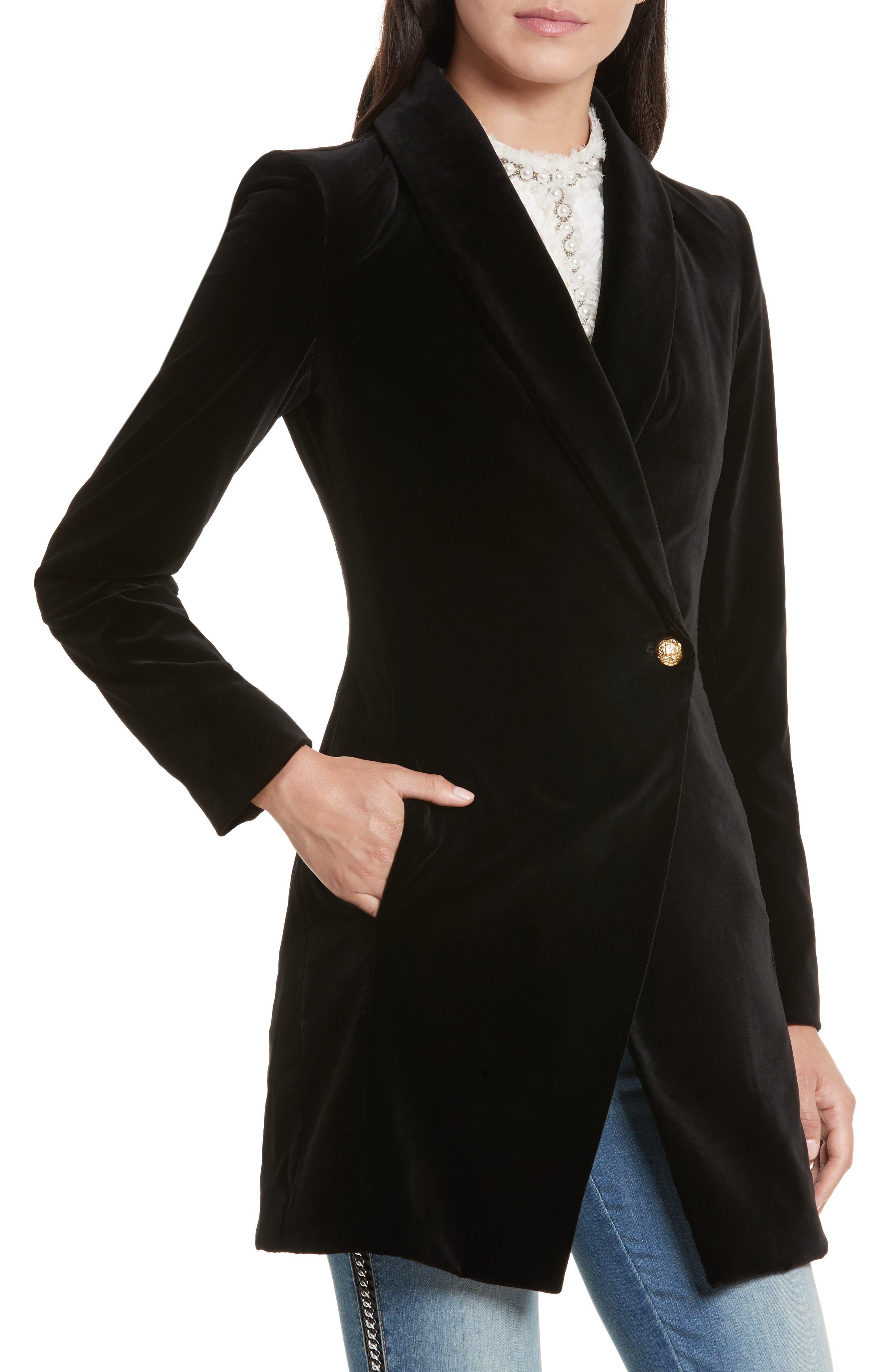 Vance Crossover Coat,                             Alternate thumbnail 4, color,                             001