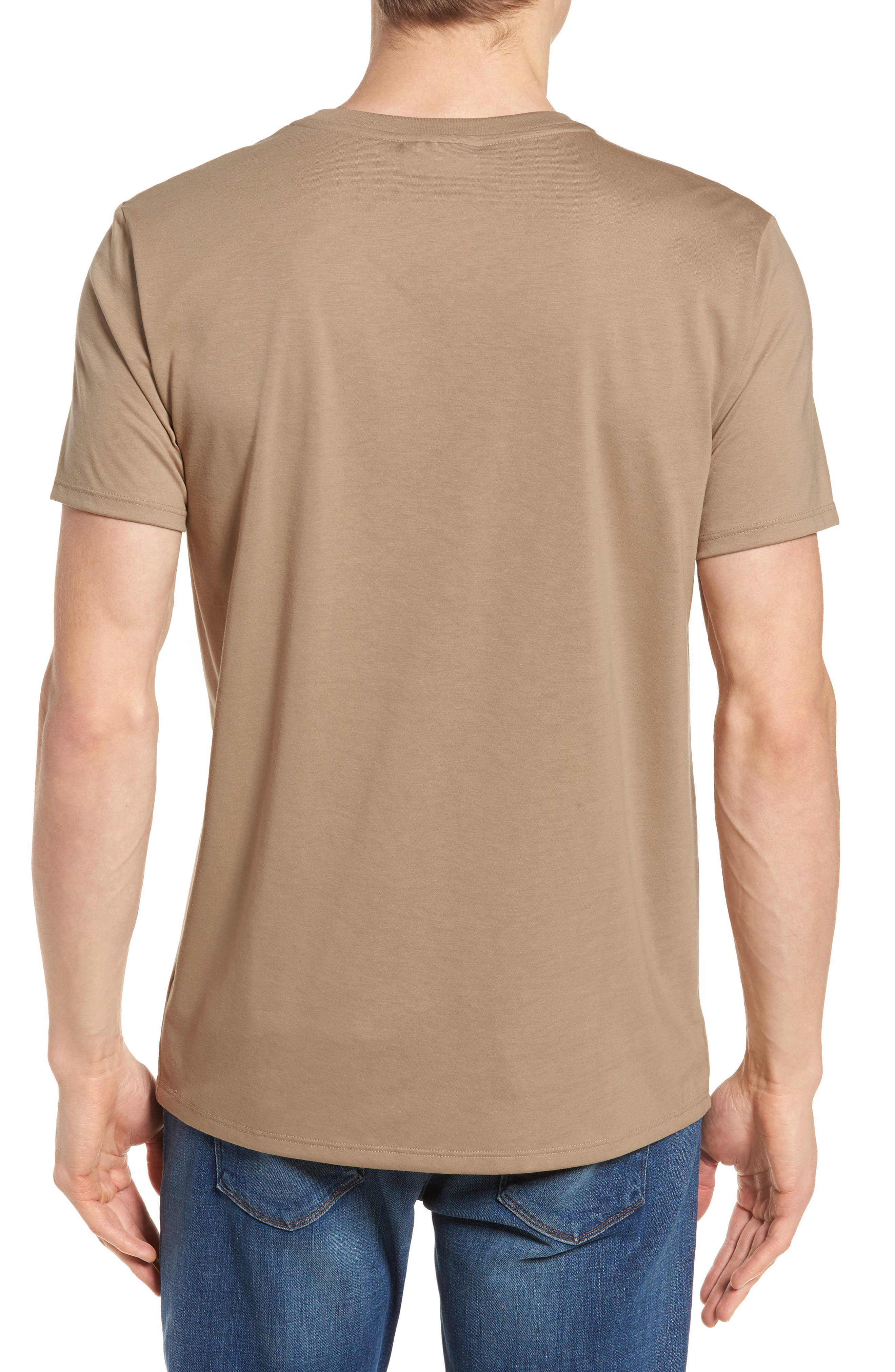 Pima Cotton T-Shirt,                             Alternate thumbnail 2, color,                             KRAFT BEIGE