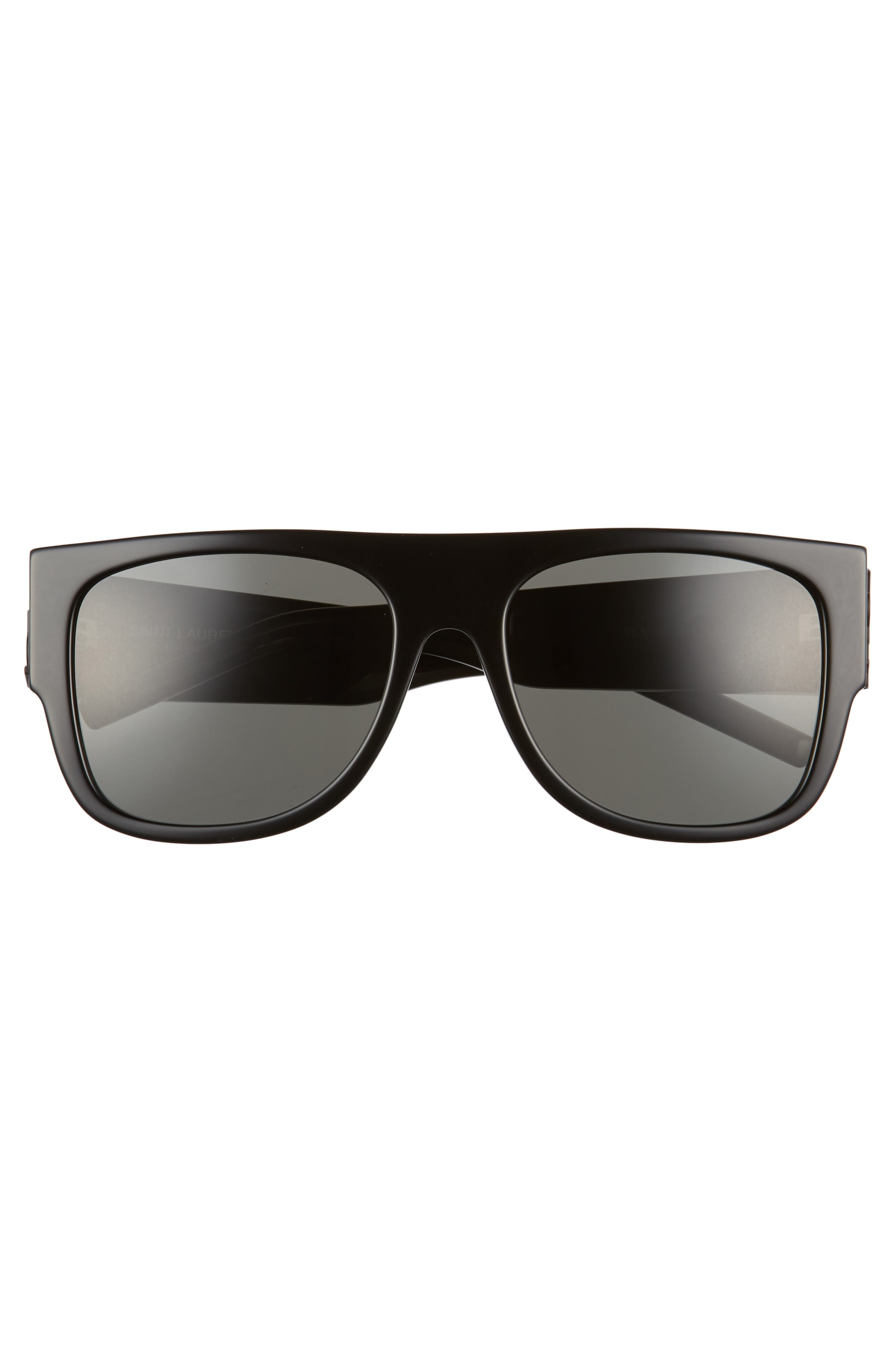 SL M16 55mm Flat Top Sunglasses,                             Alternate thumbnail 3, color,                             001