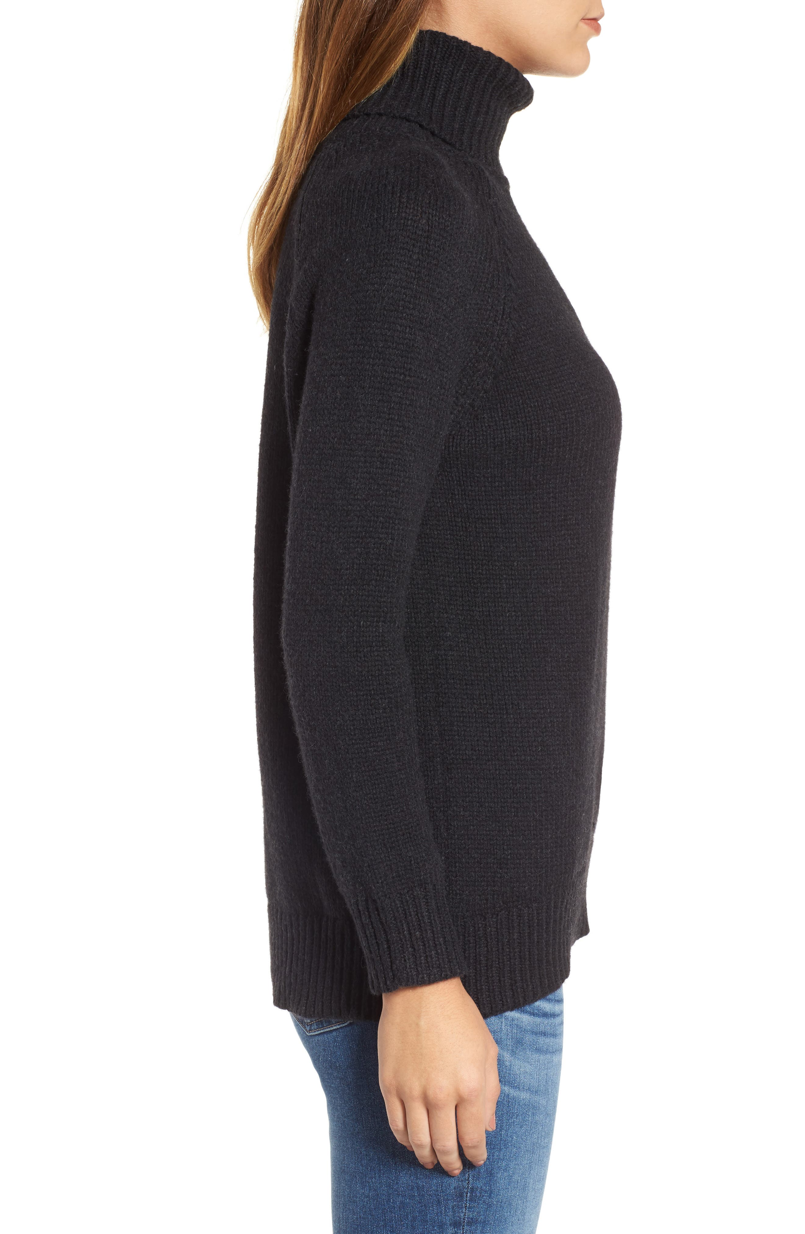 Textured Turtleneck Sweater,                             Alternate thumbnail 3, color,                             025
