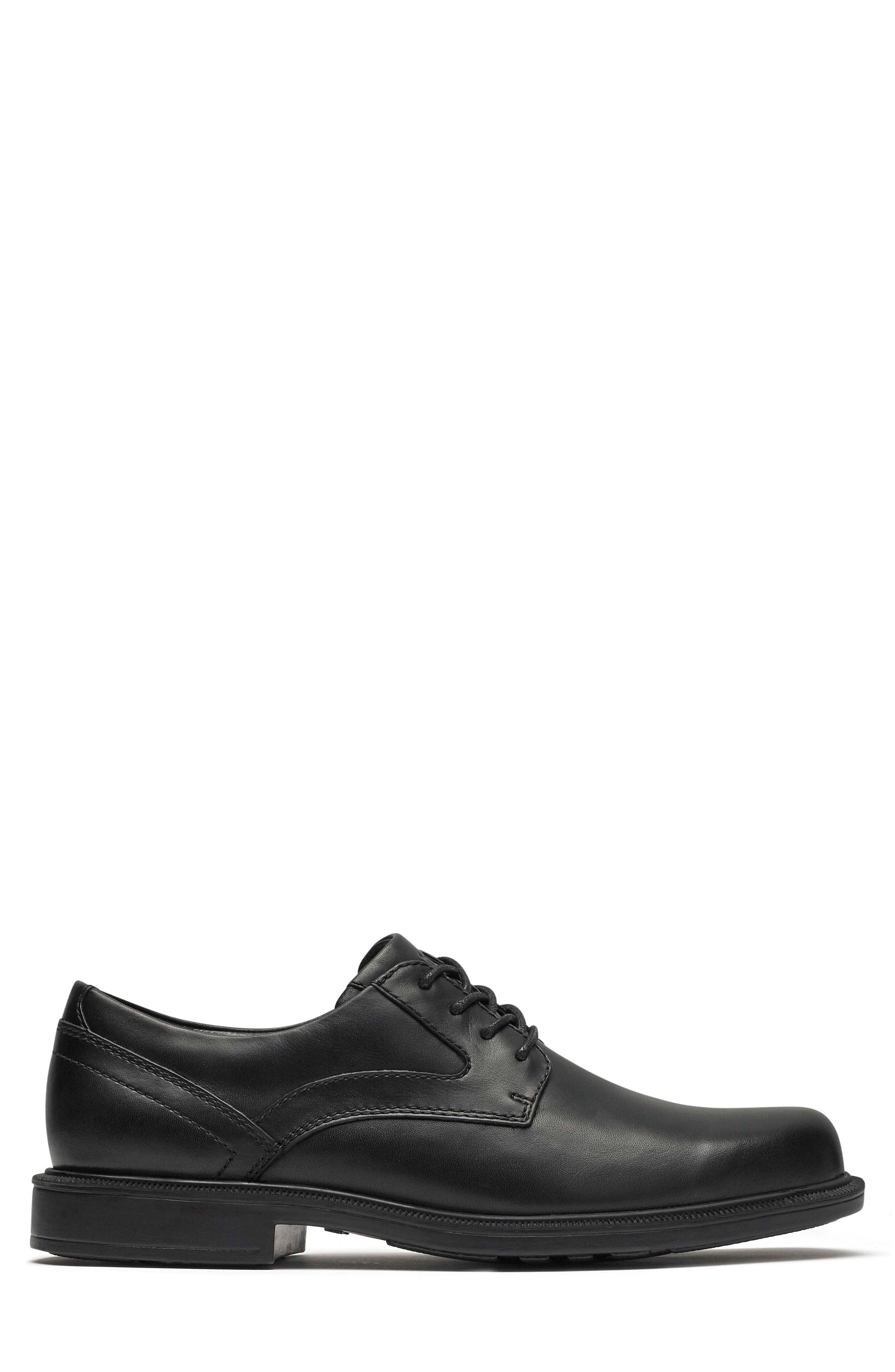 Jericho Plain Toe Derby,                             Alternate thumbnail 3, color,                             BLACK LEATHER