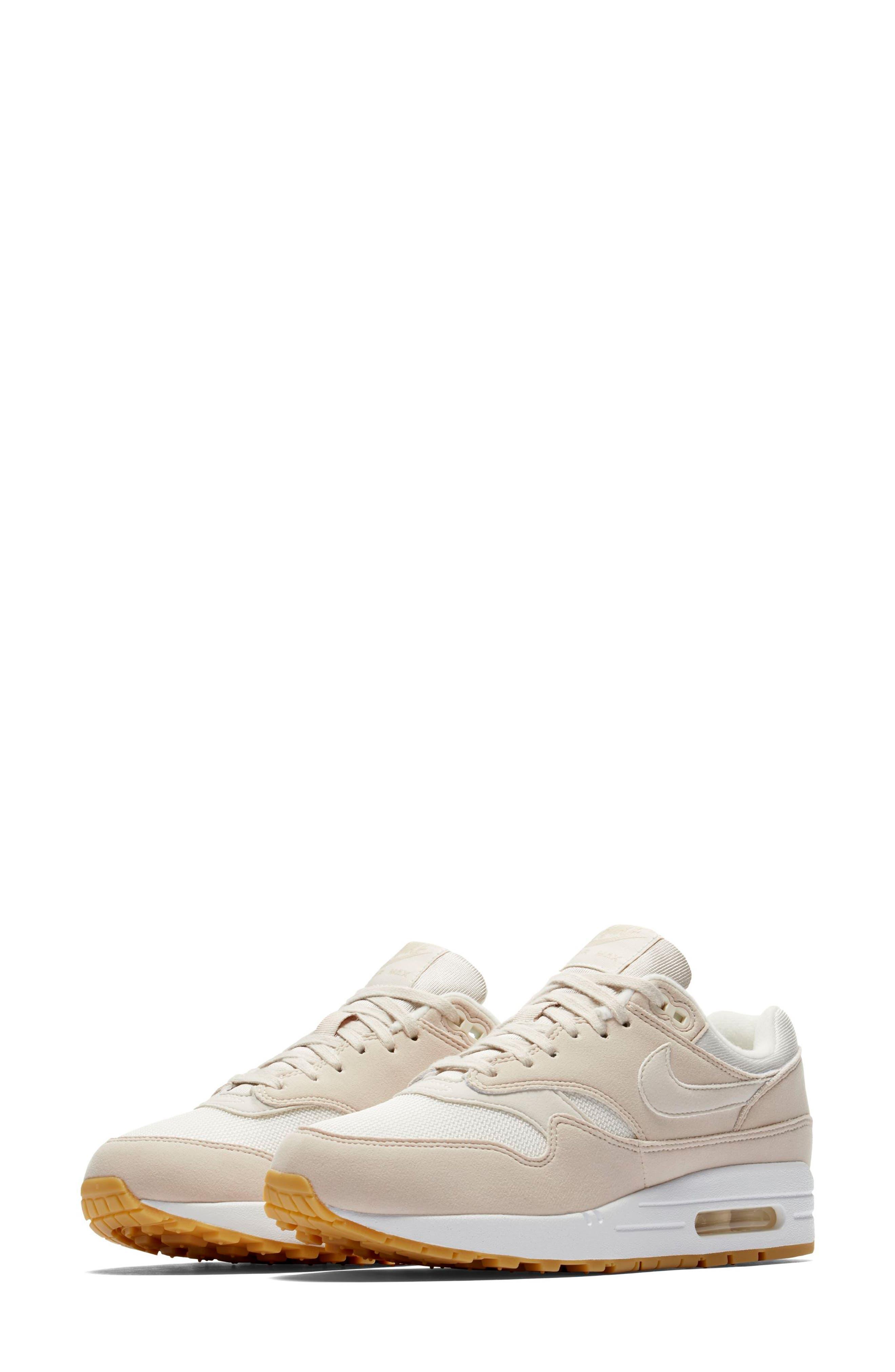 Air Max 1 Sneaker,                             Main thumbnail 1, color,                             DESERT SAND