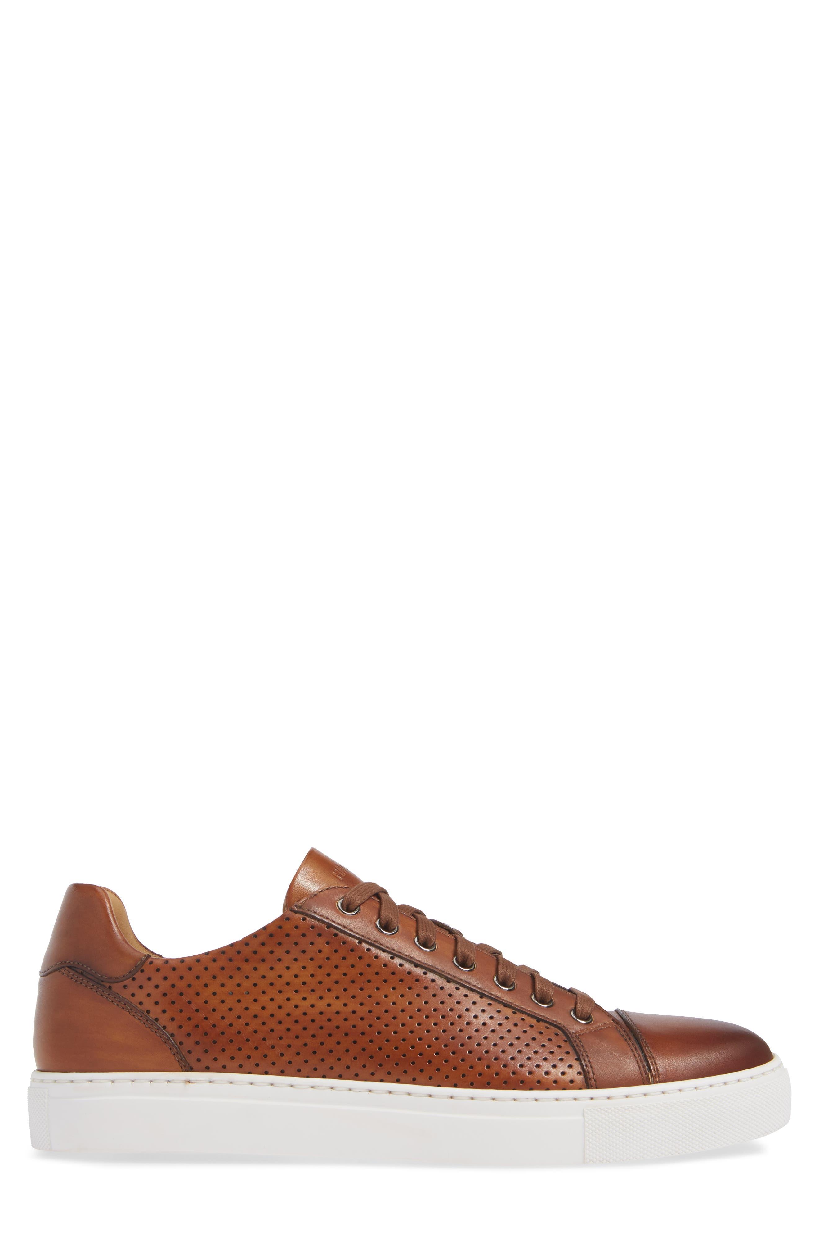 Jackson Sneaker,                             Alternate thumbnail 3, color,                             COGNAC LEATHER