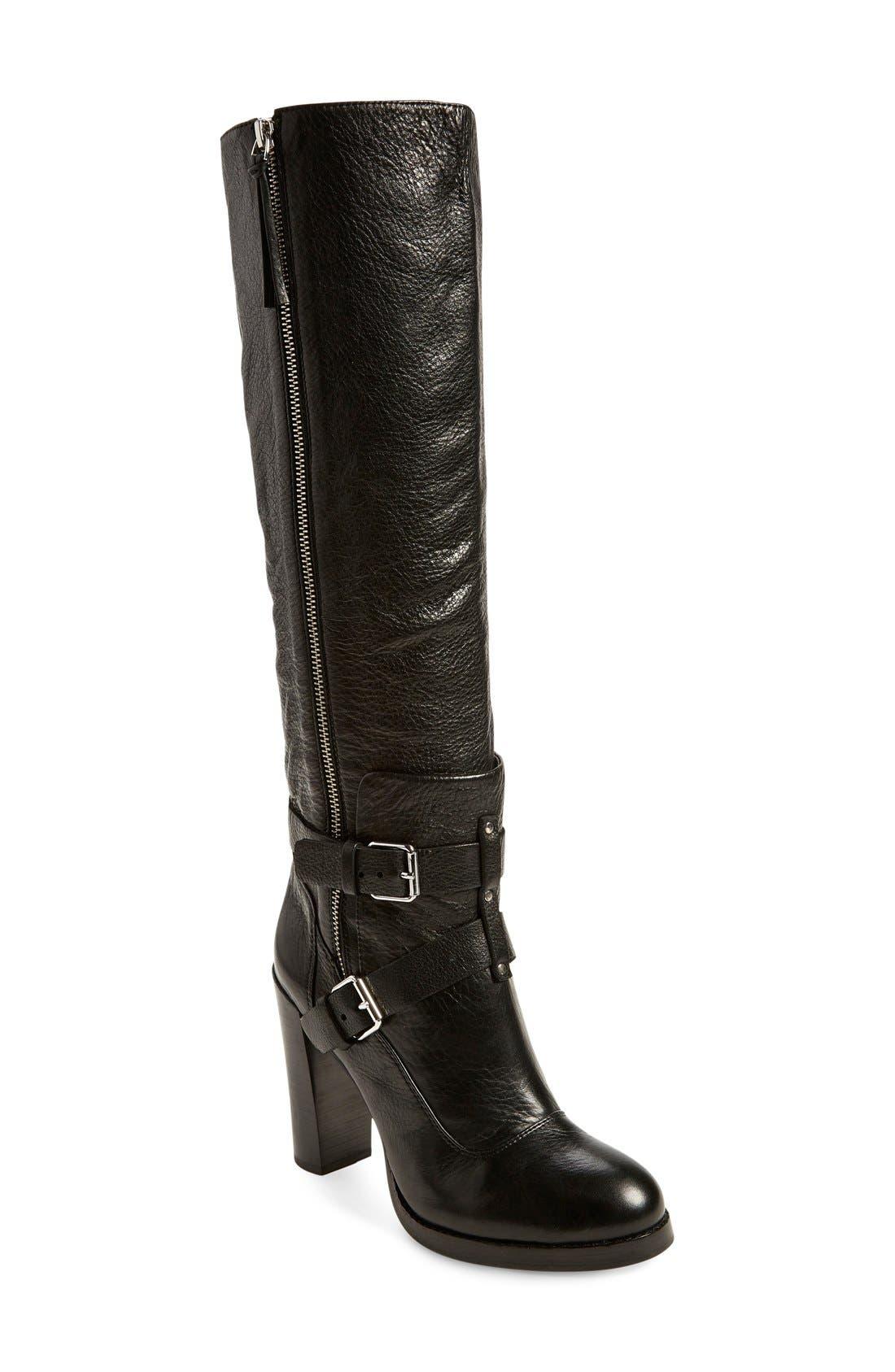 'Billie' Knee-High Boot, Main, color, 001
