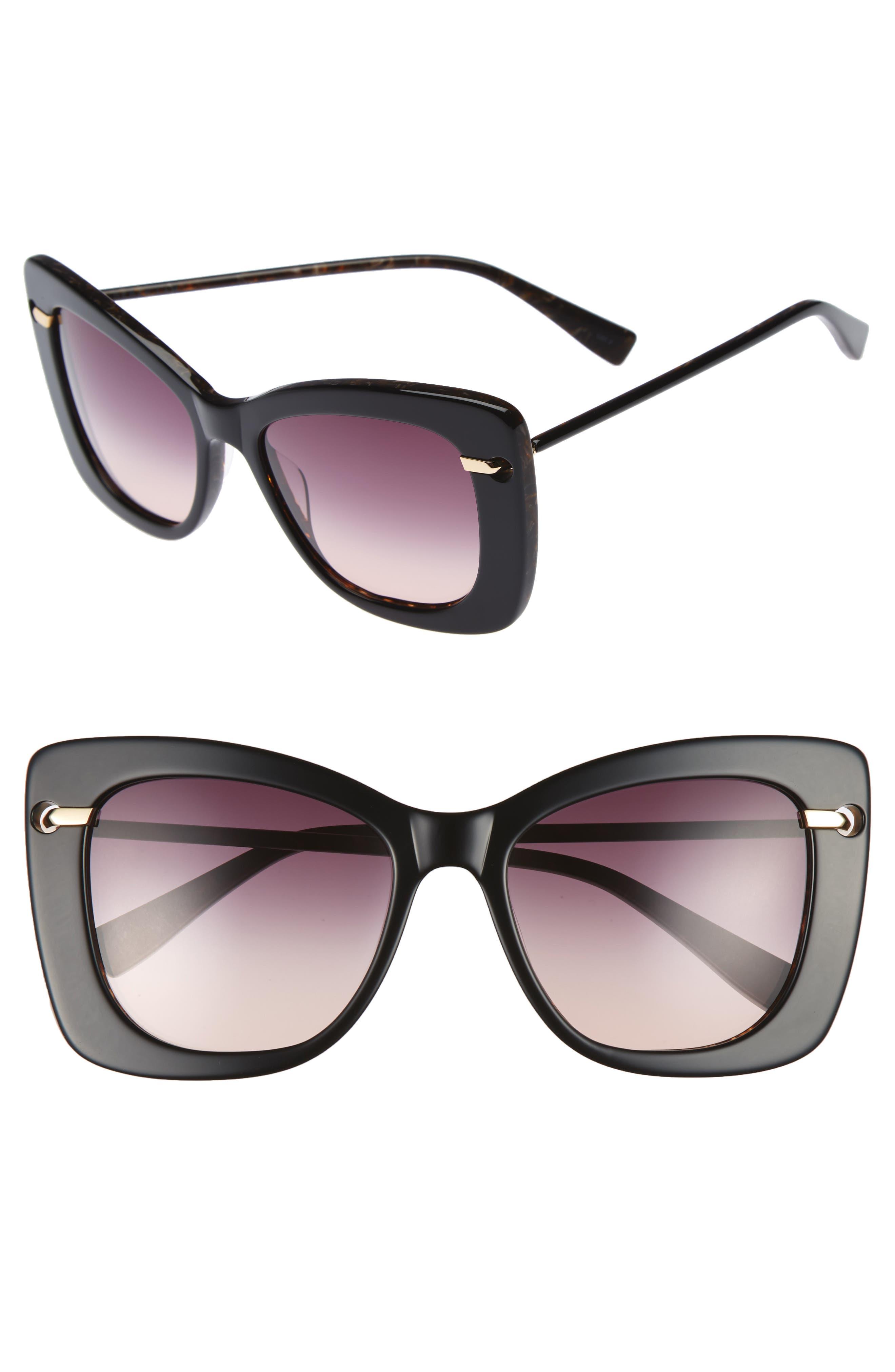DEREK LAM Clara 55mm Gradient Sunglasses, Main, color, 001