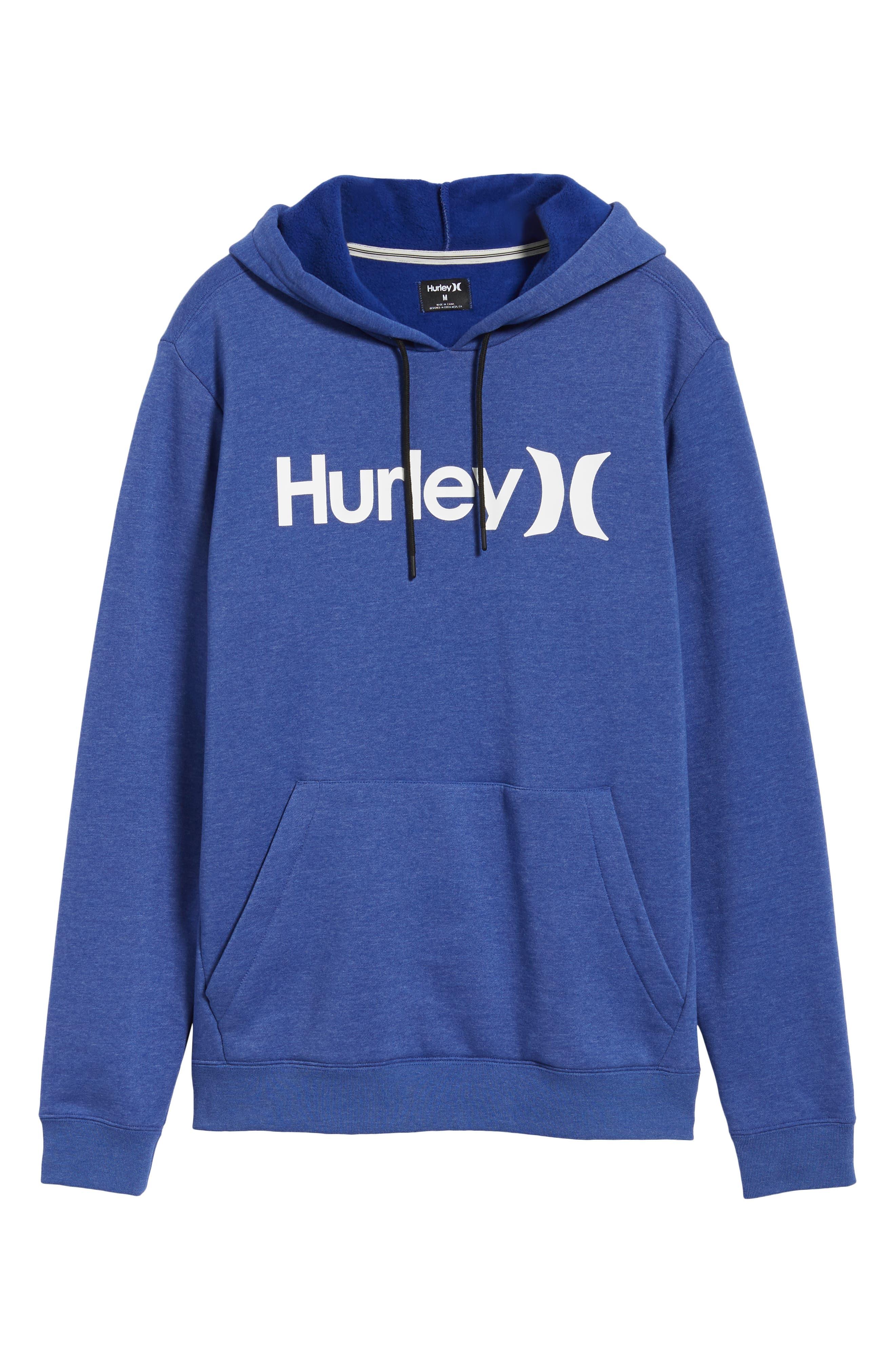 Surf Check Hoodie Sweatshirt,                             Alternate thumbnail 6, color,                             DEEP ROYAL HEATHER/ WHITE