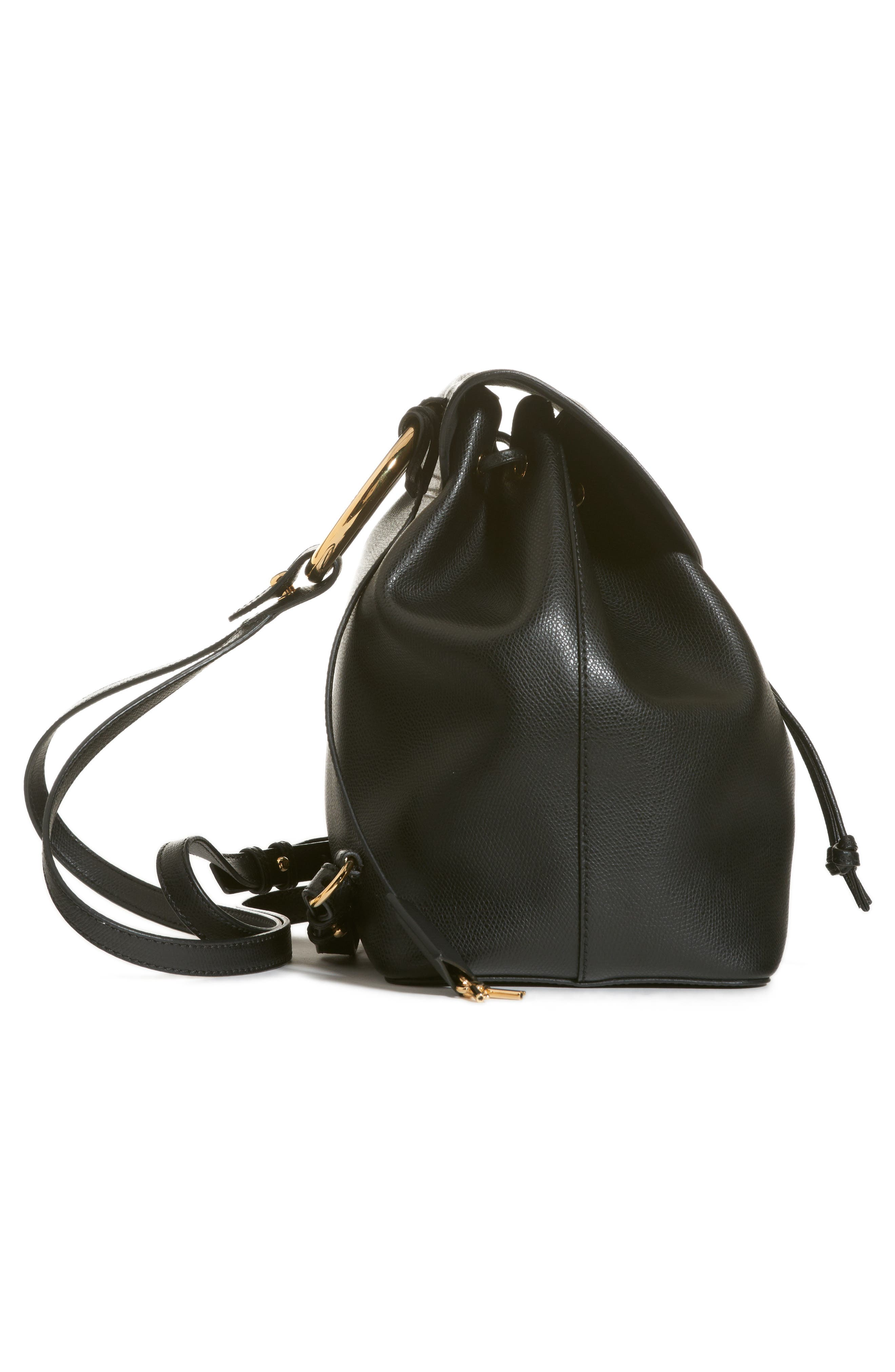 Cruise Calfskin Leather Backpack,                             Alternate thumbnail 4, color,                             006