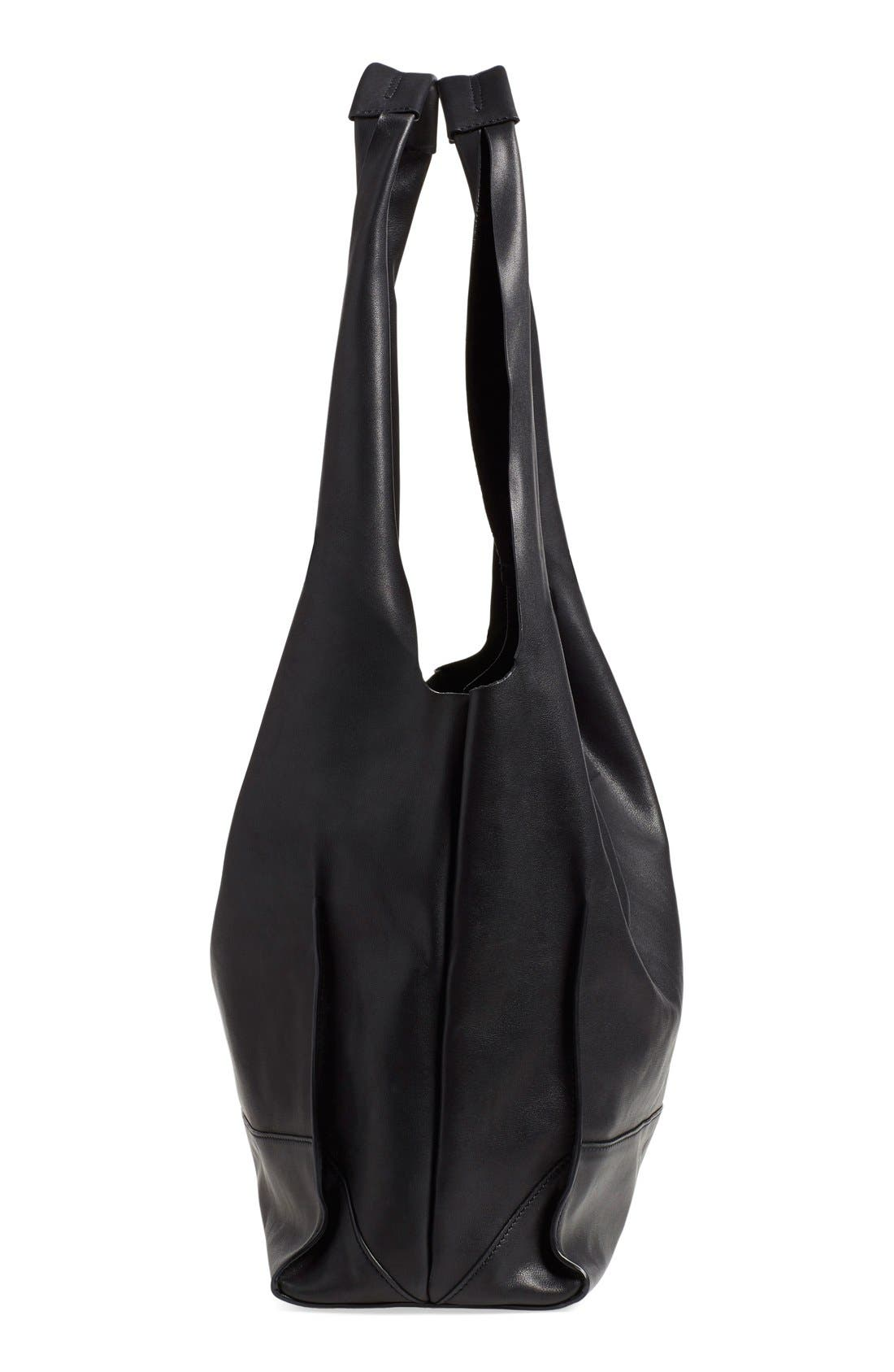 Walker Leather Tote,                             Alternate thumbnail 3, color,                             001