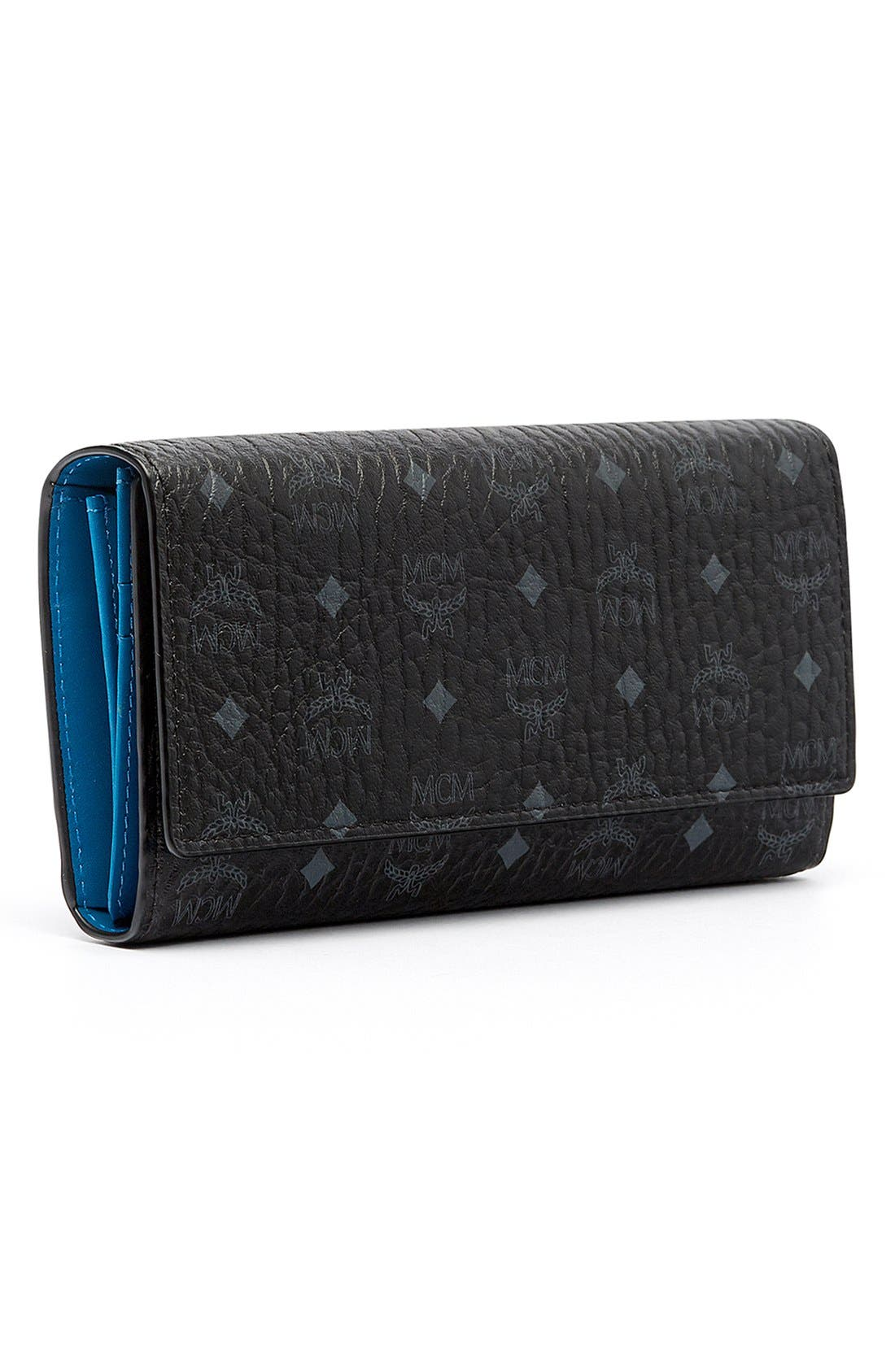 Visetos Coated Canvas Continental Wallet,                             Alternate thumbnail 5, color,                             001