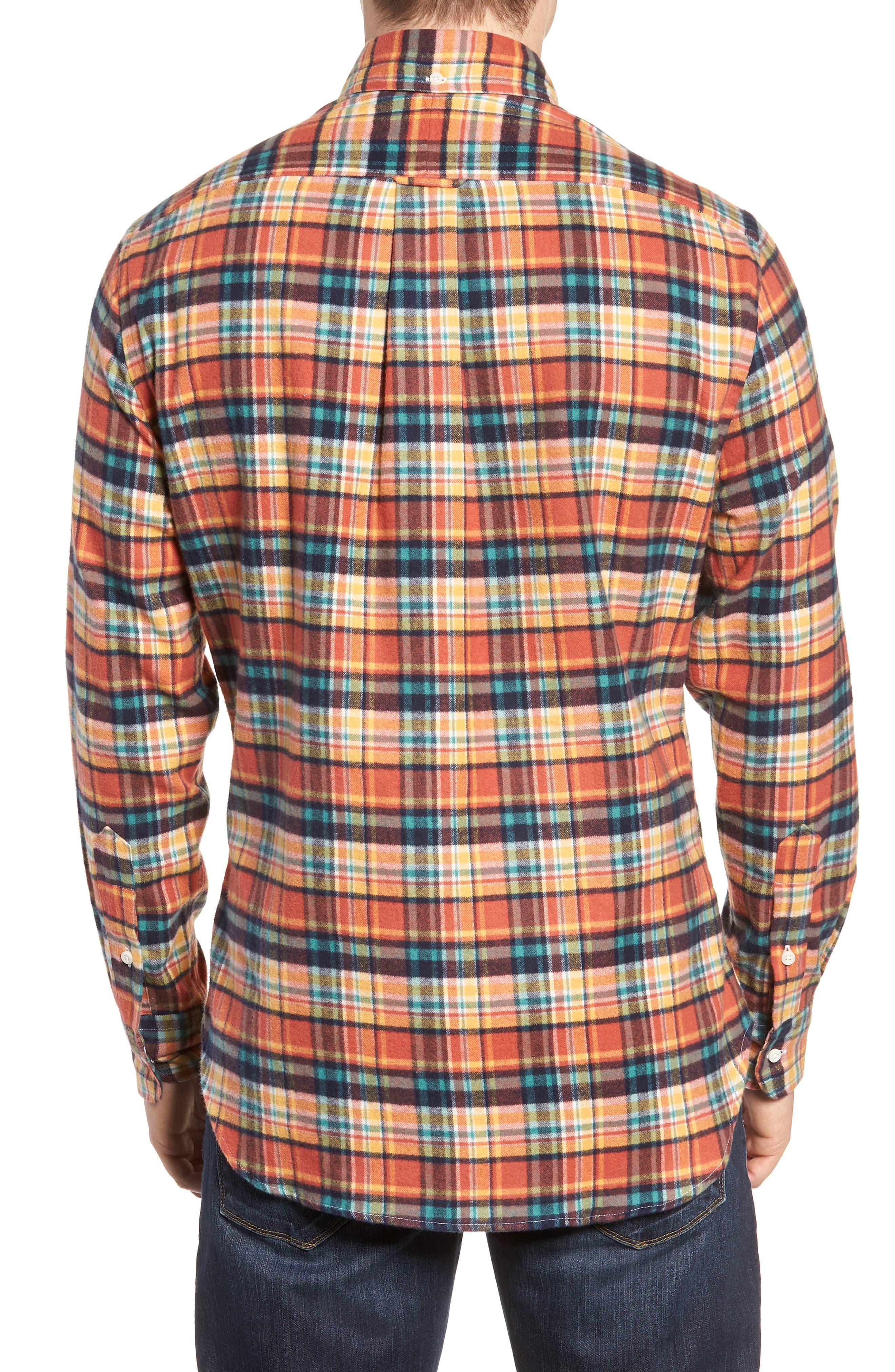 Regular Fit Flannel Shirt,                             Alternate thumbnail 3, color,                             800