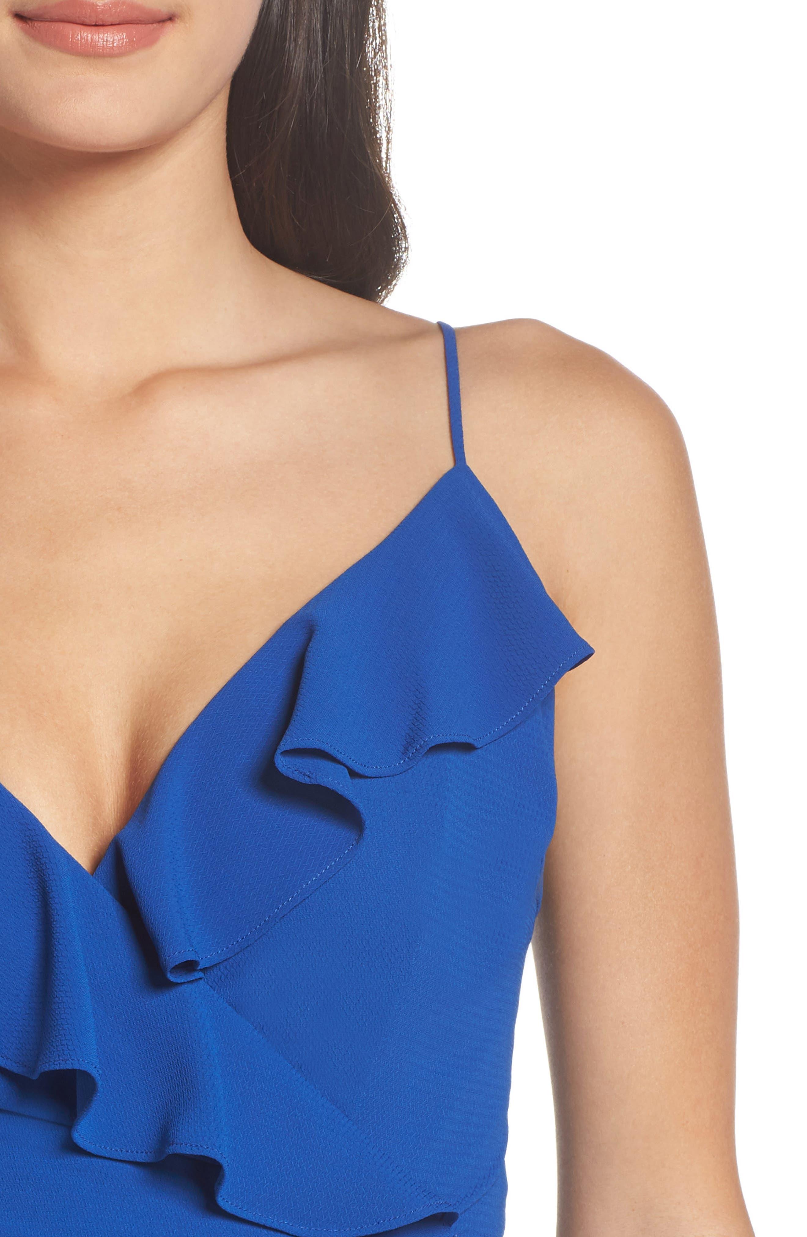 Camilla Frill Sheath Dress,                             Alternate thumbnail 4, color,                             460