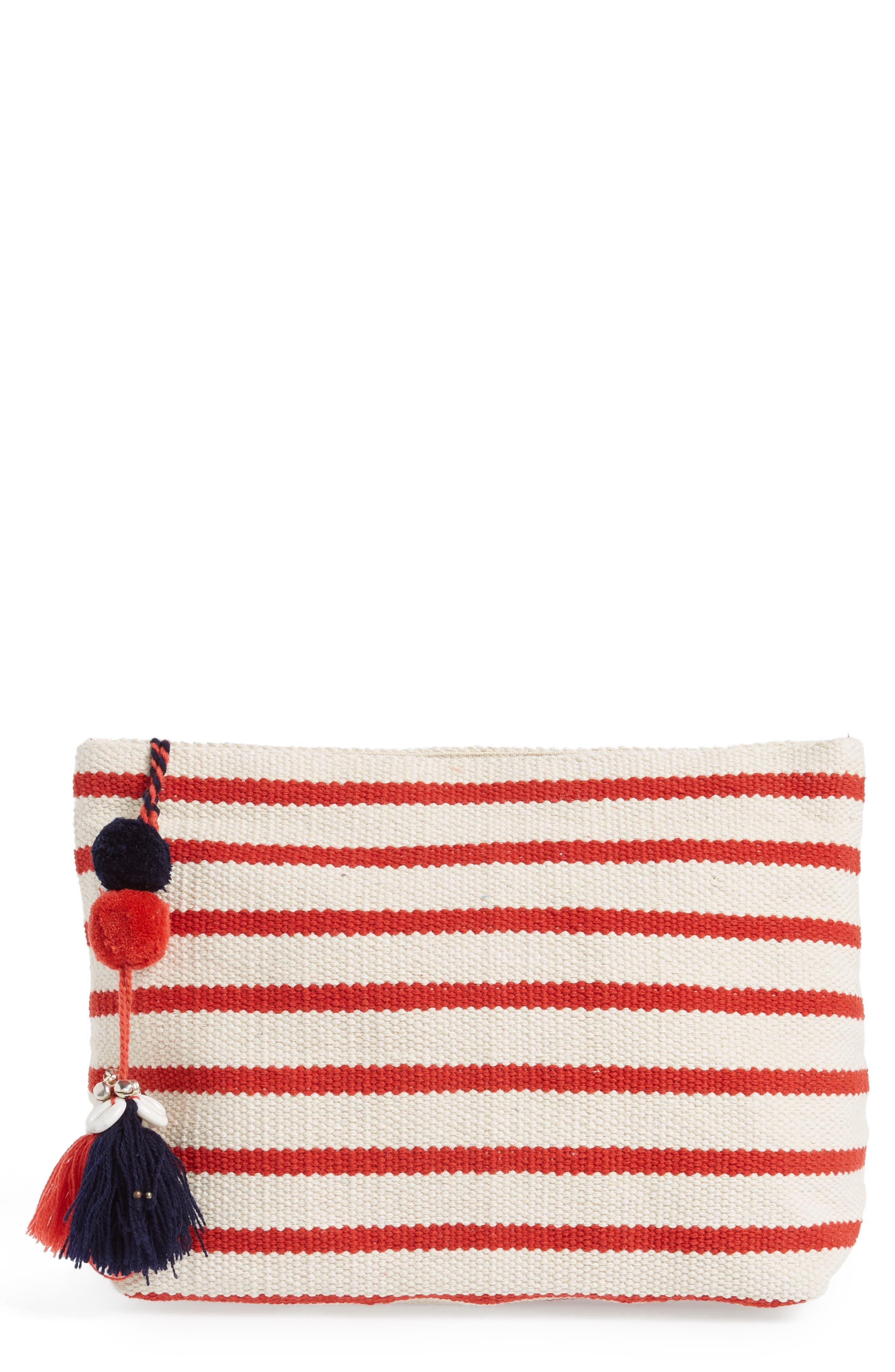 Montauk Woven Zip Pouch,                         Main,                         color, 600
