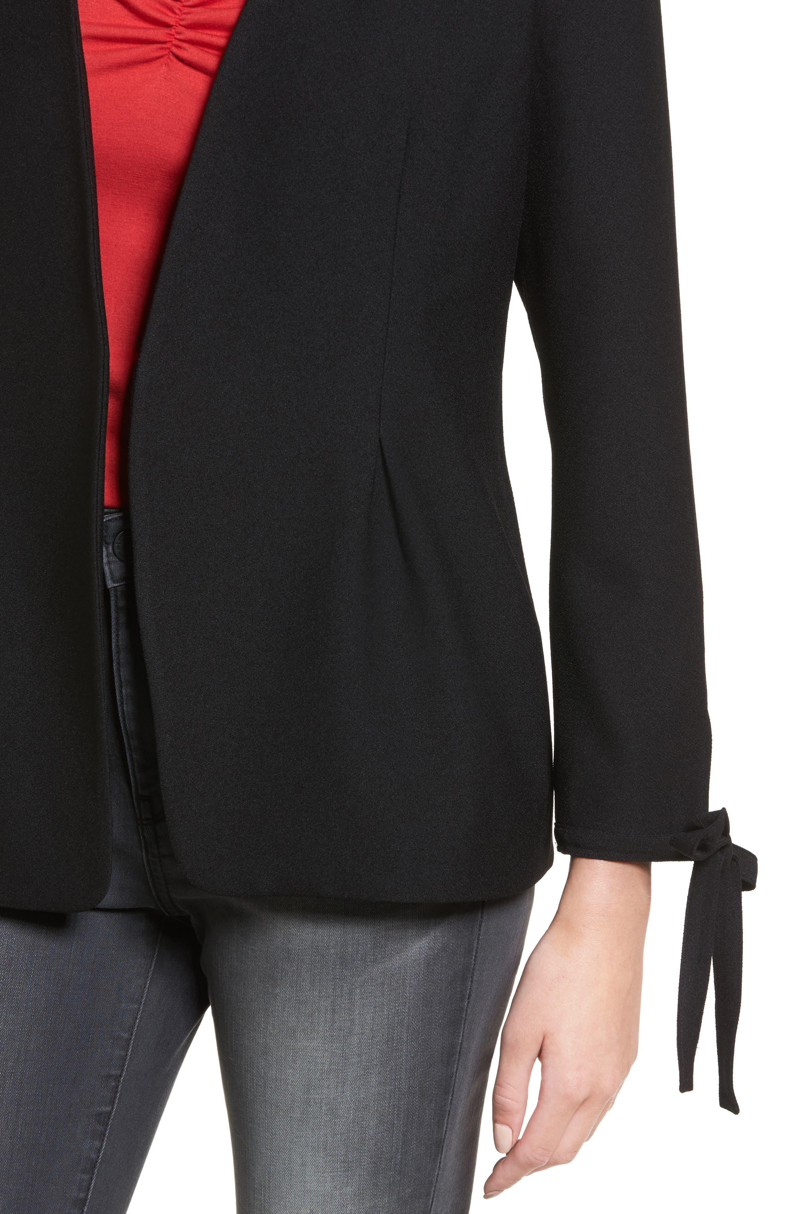 Tie Sleeve Blazer,                             Alternate thumbnail 8, color,