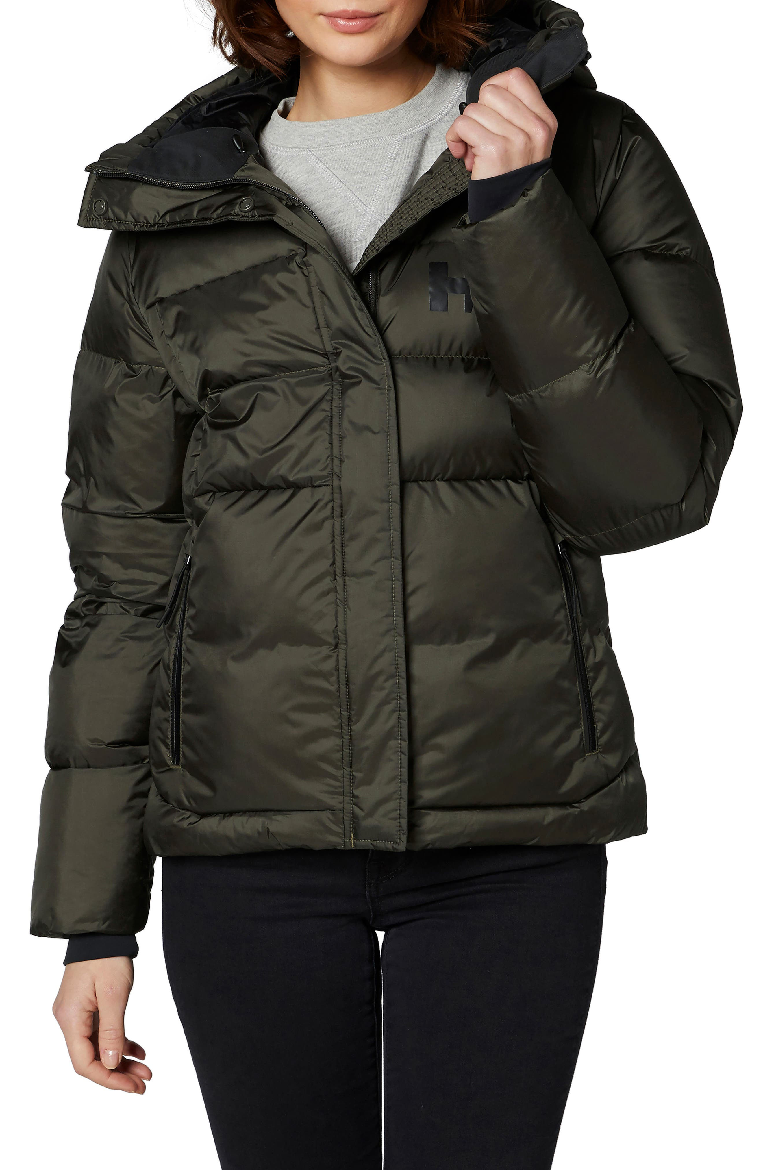 Helly Hansen Stellar Water Repellent Puffer Jacket, Green