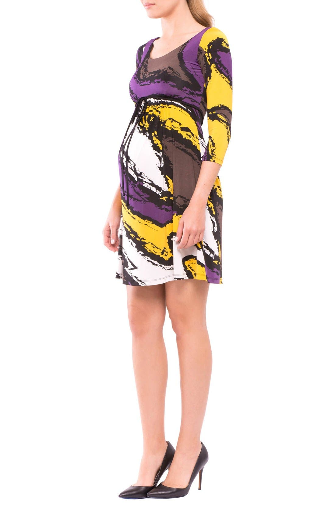 Marissa Maternity Dress,                             Alternate thumbnail 3, color,
