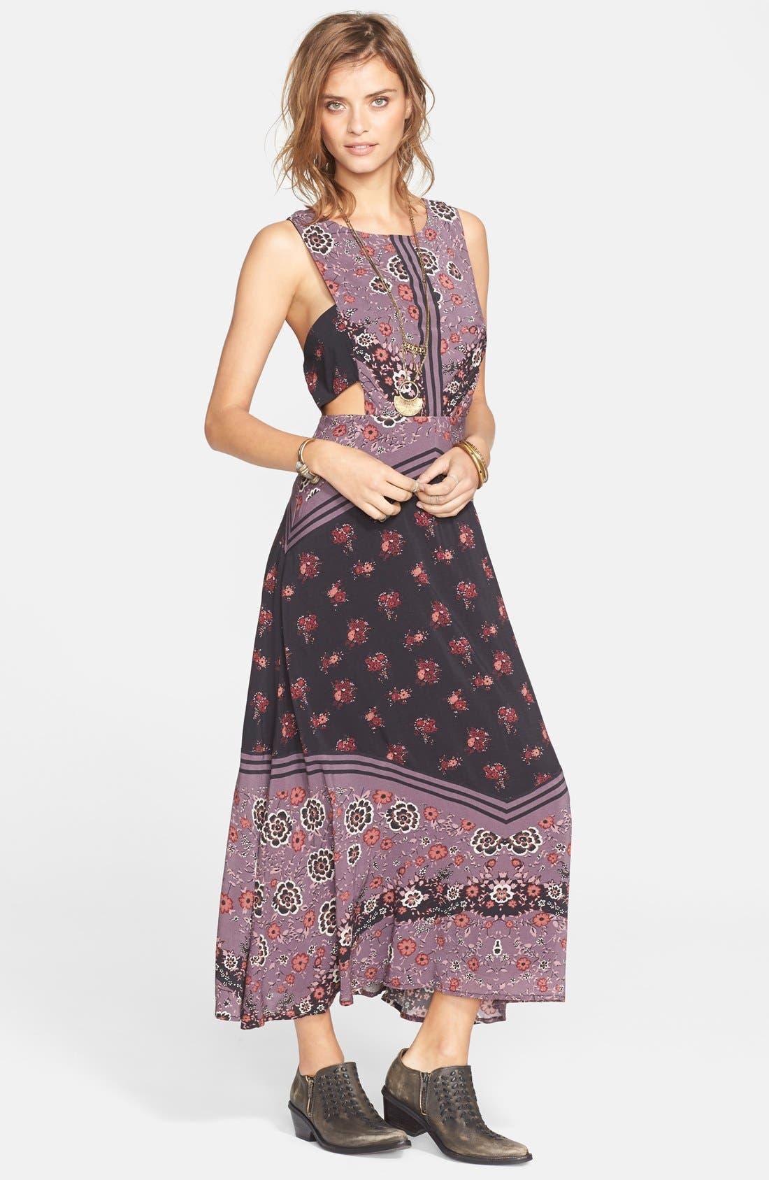 FREE PEOPLE,                             'Sunrise Oblivion' Floral Print Dress,                             Main thumbnail 1, color,                             001